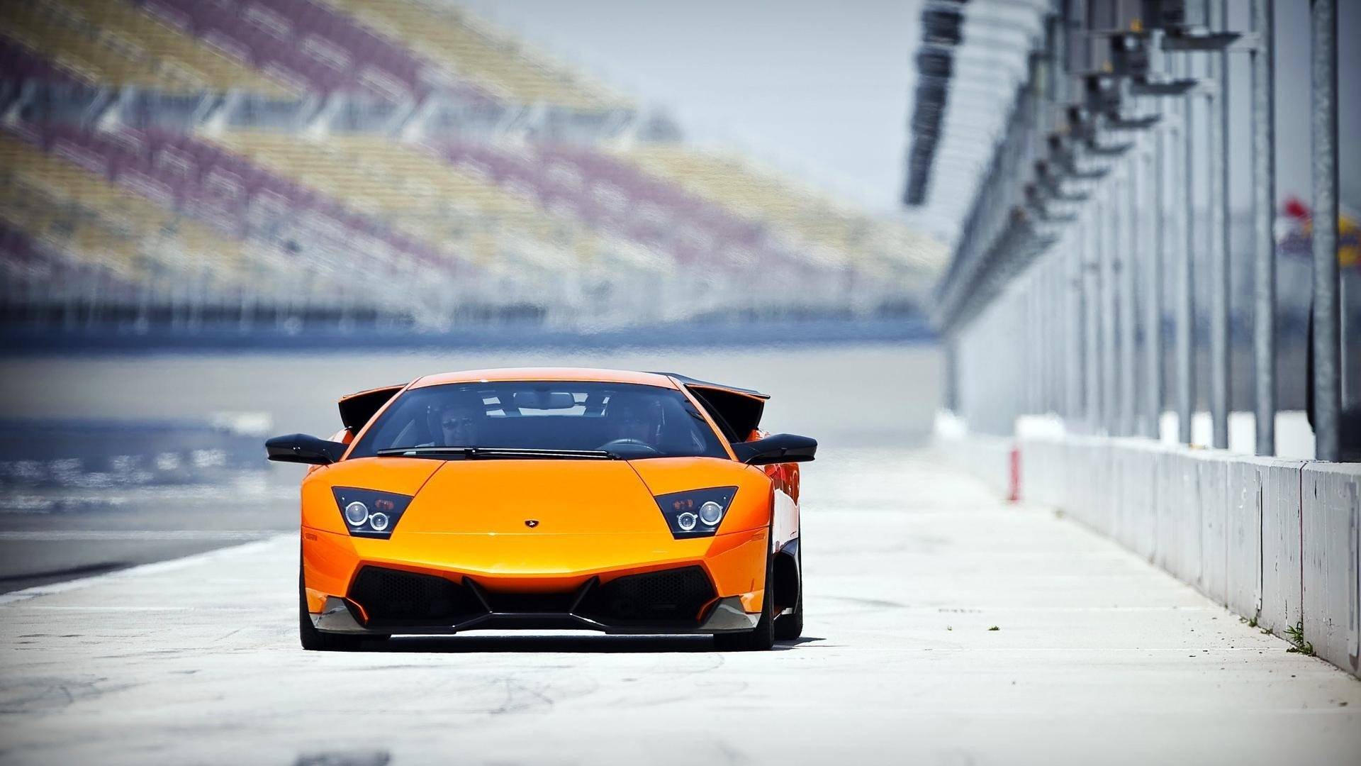 Lamborghini Murcielago SV Track HD Wallpaper
