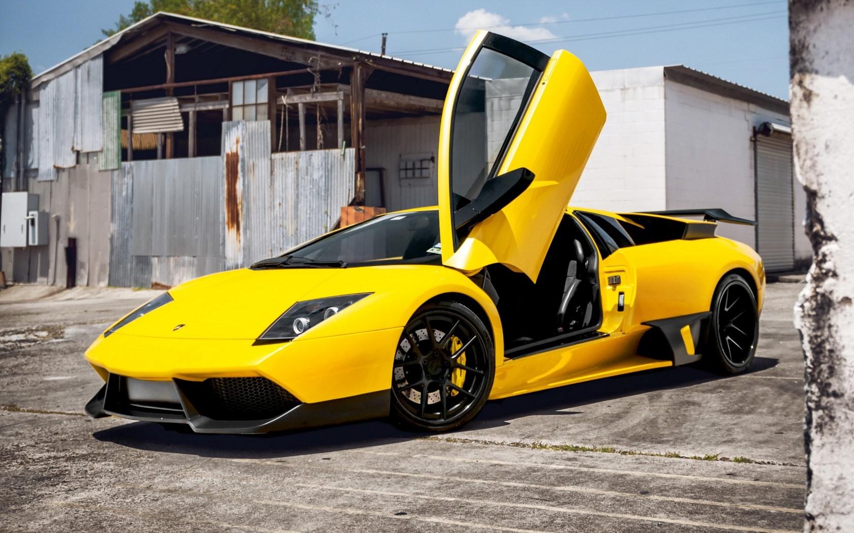 Lamborghini Murcielago Yellow HD Wallpaper