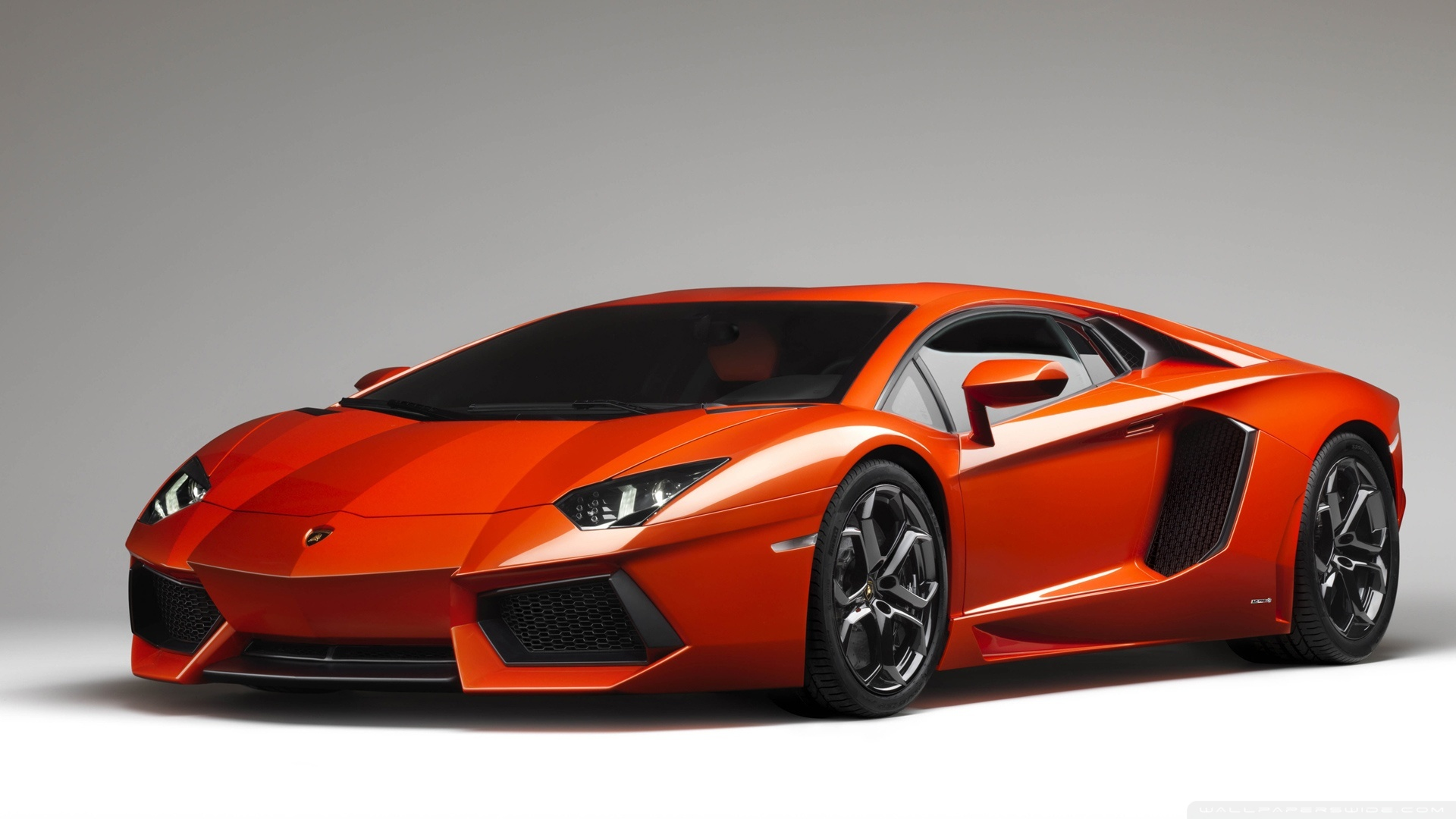 Orange Lamborghini Aventador HD Wide Wallpaper for Widescreen