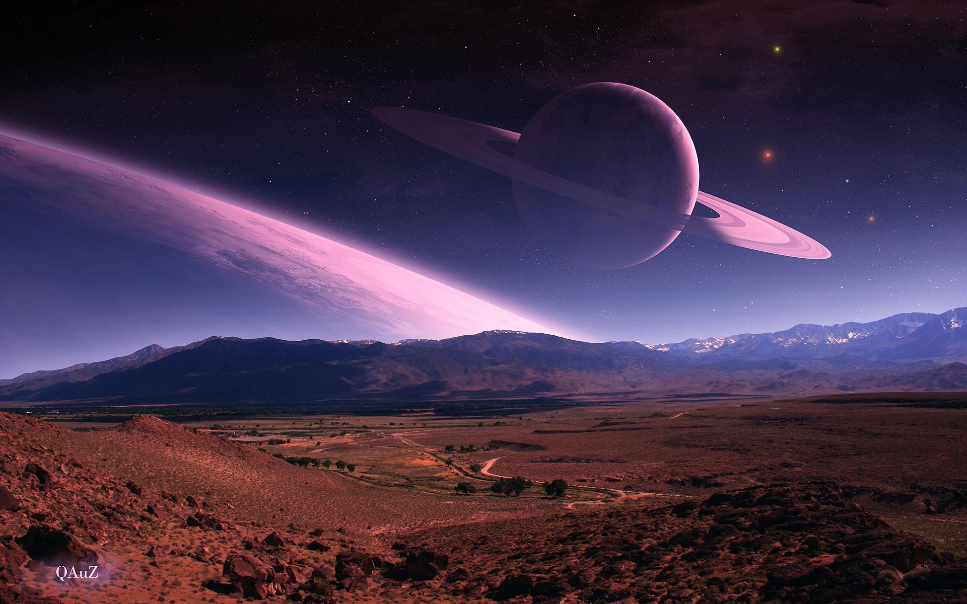 Landscape planet art