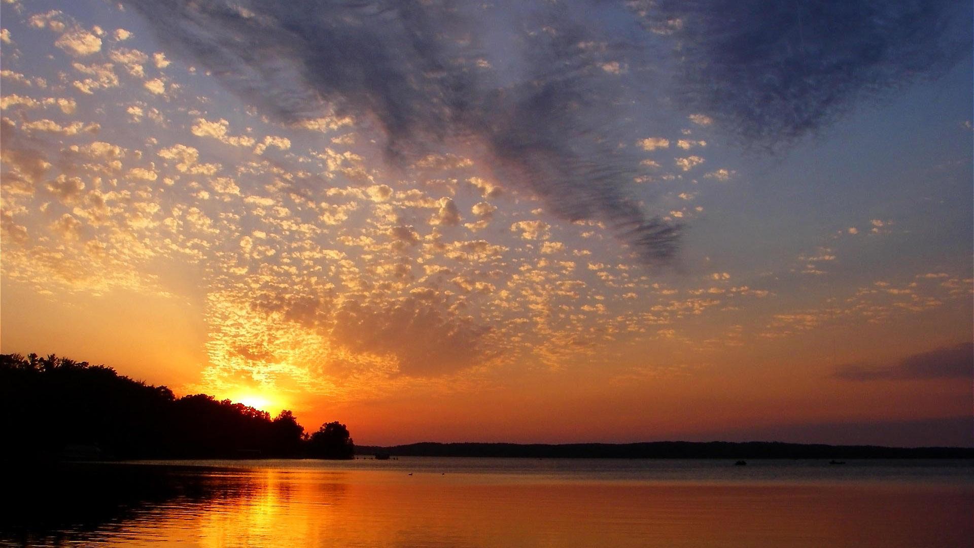 Landscape Sunset Background