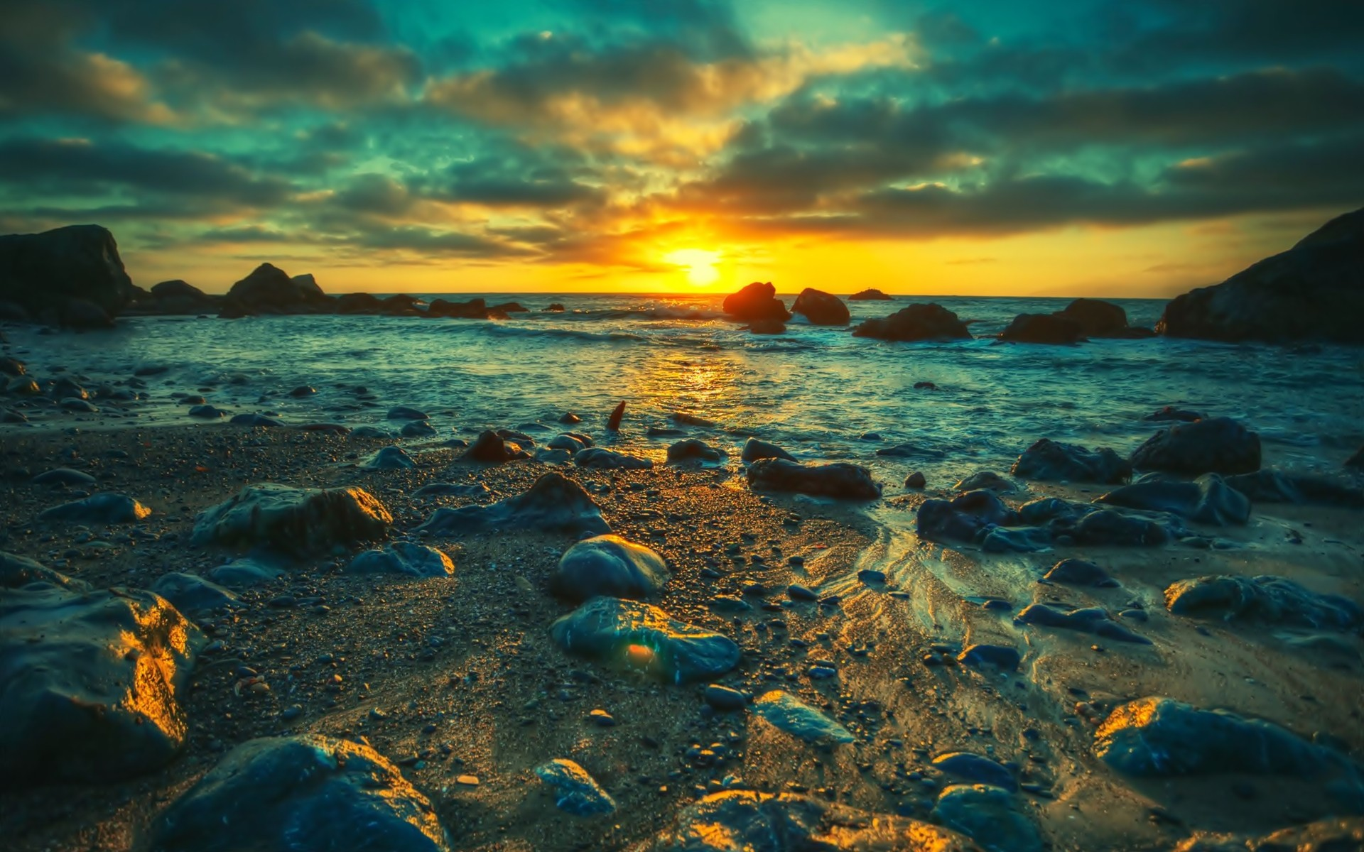 sunset sea nature landscape hd wallpapers new desktop nature images widescreen