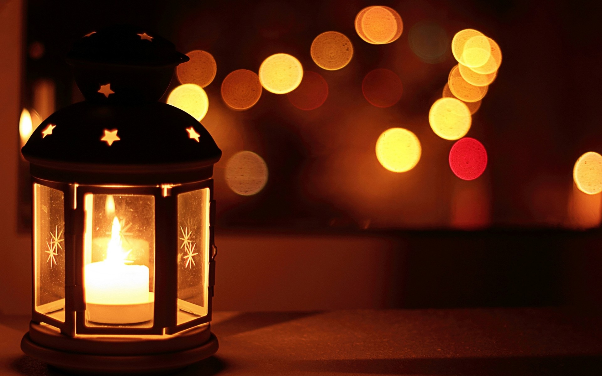 lantern wallpaper, Ikea, flashlight, candle, light, window, evening, night