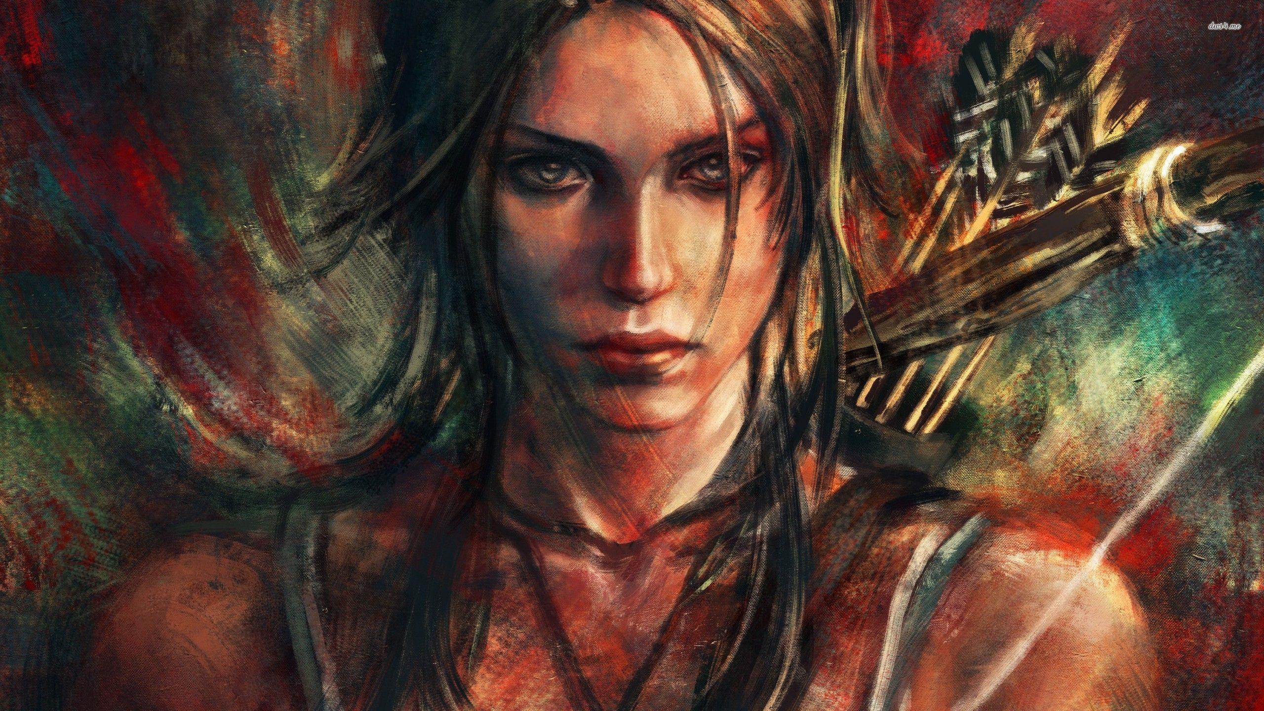 Lara croft painting