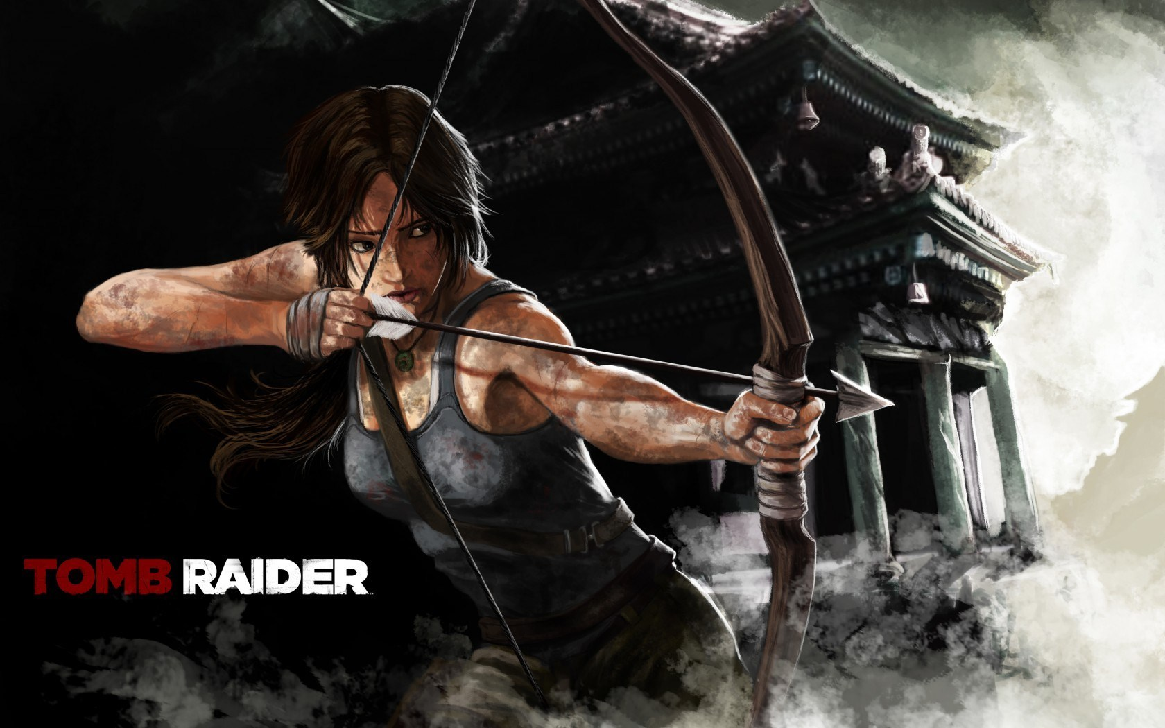 Lara Croft Tomb Raider Art Girl Bow