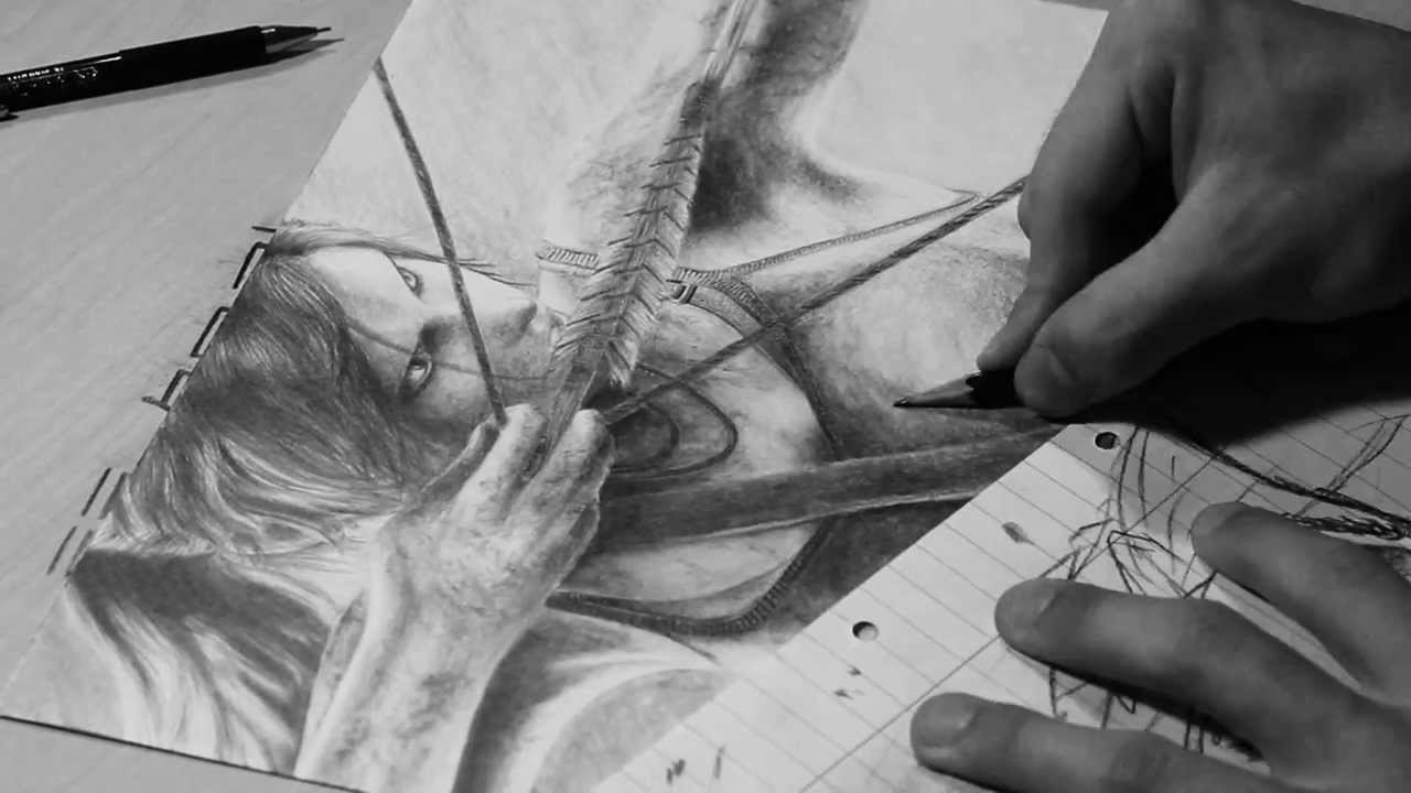 Lara Croft Tomb Raider Drawing