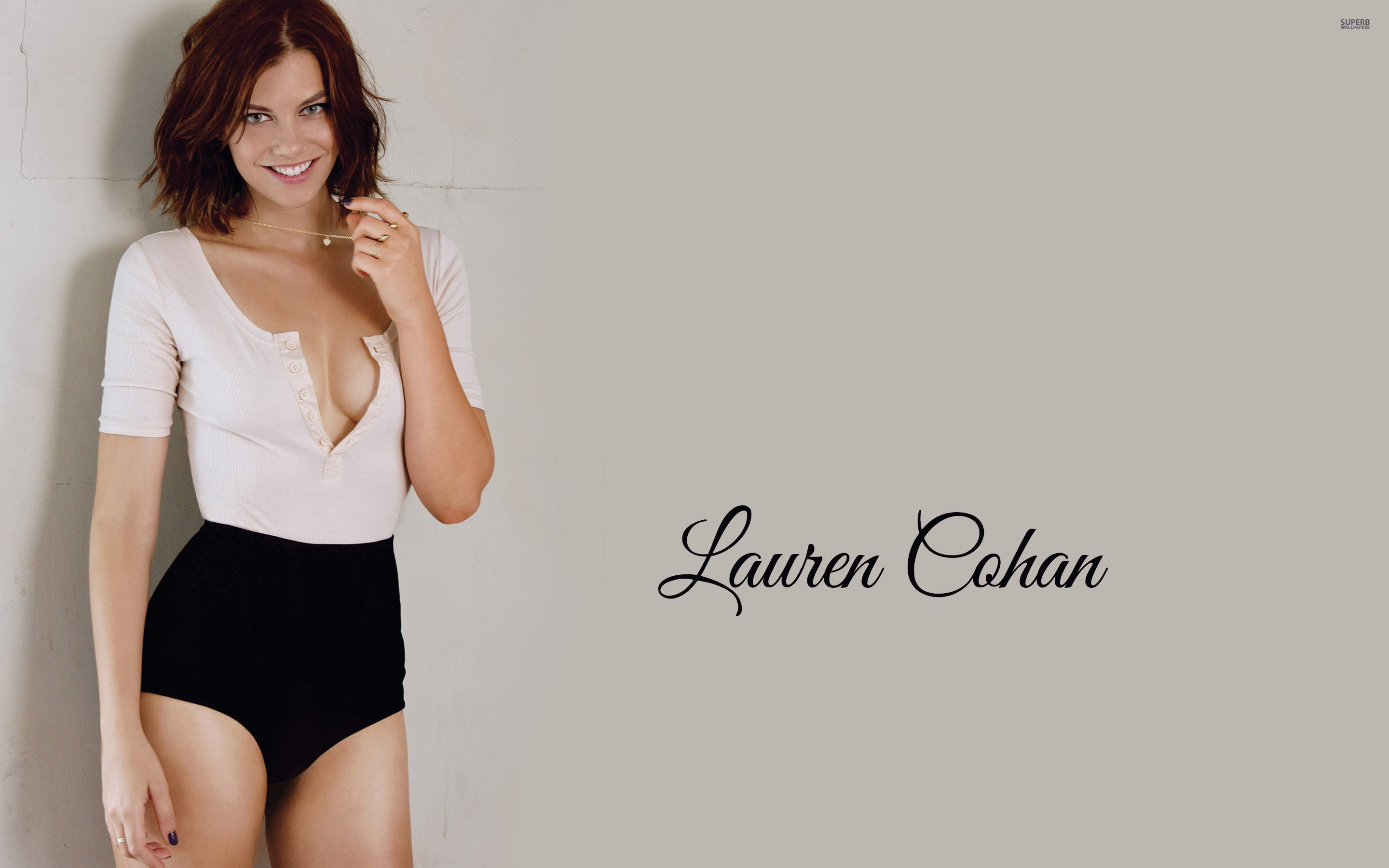Lauren Cohan wallpaper 2880x1800 jpg