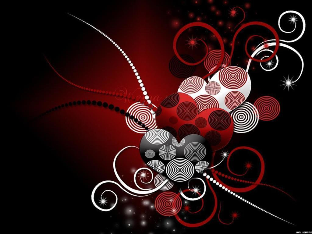 Abstract Wallpaper: Love Circles