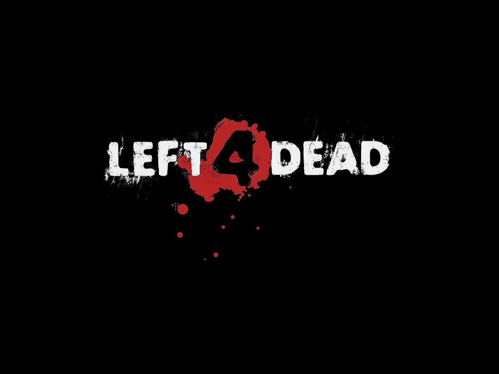 Left 4 Dead Wallpaper - L4D Logo on black. 1024×768 ...