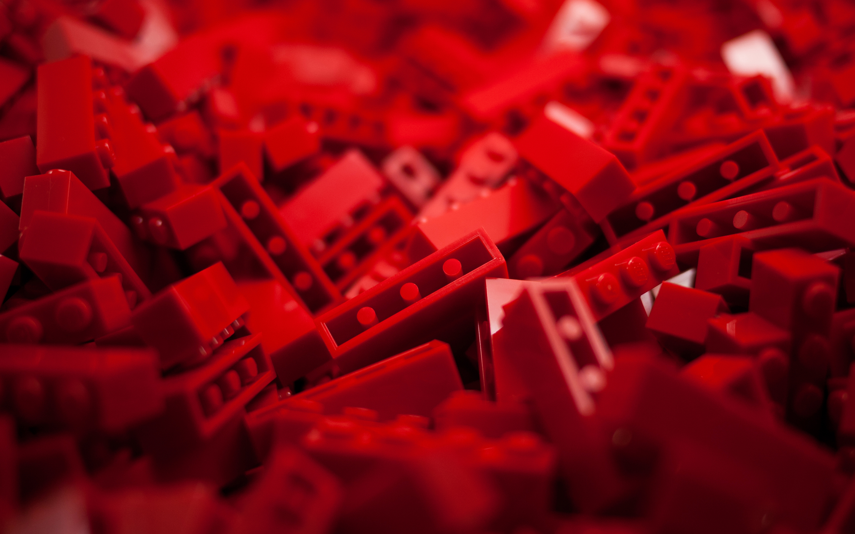 Lego Macro Red abstract toys wallpaper