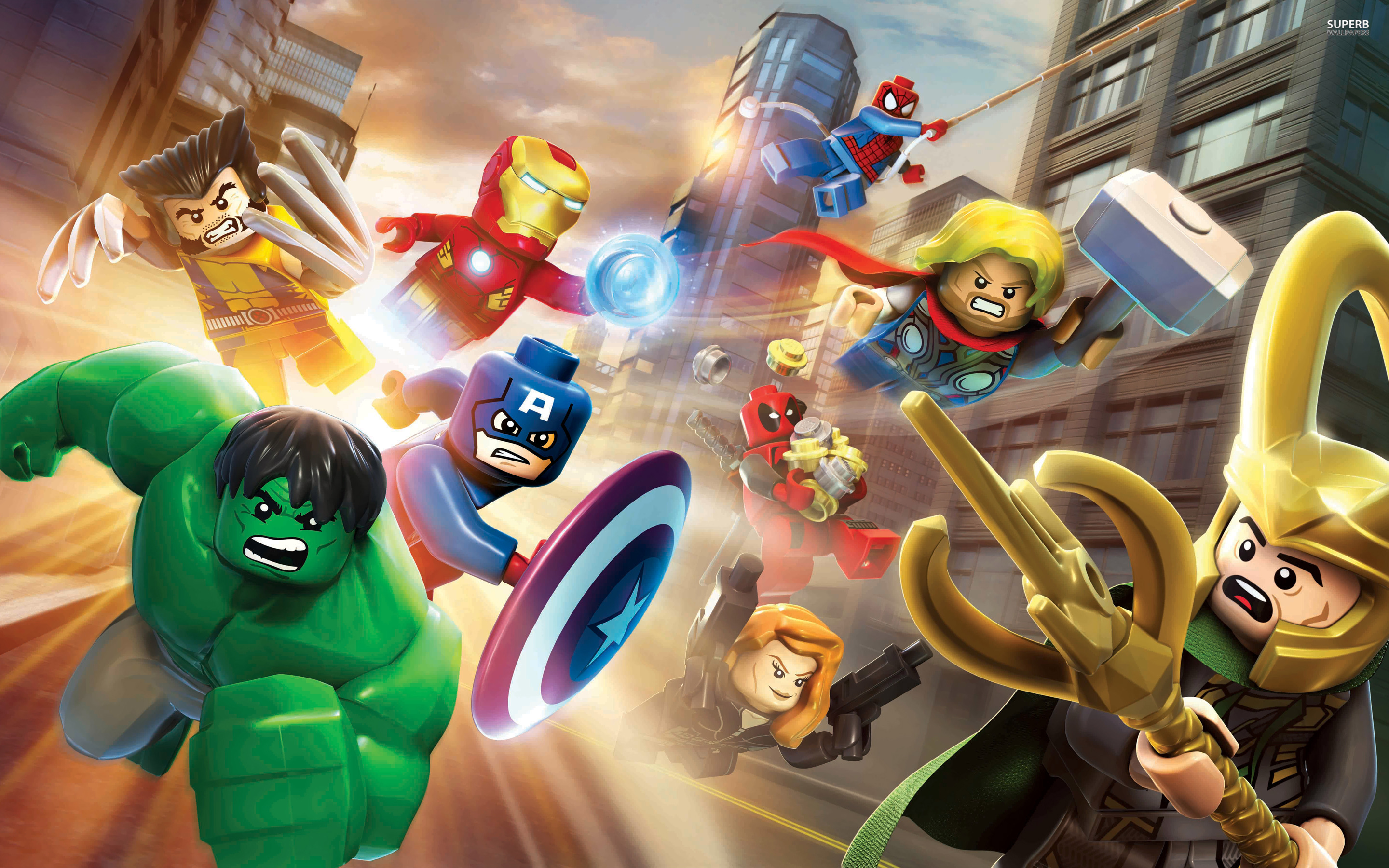 Lego Marvel Super Heroes wallpaper 2880x1800