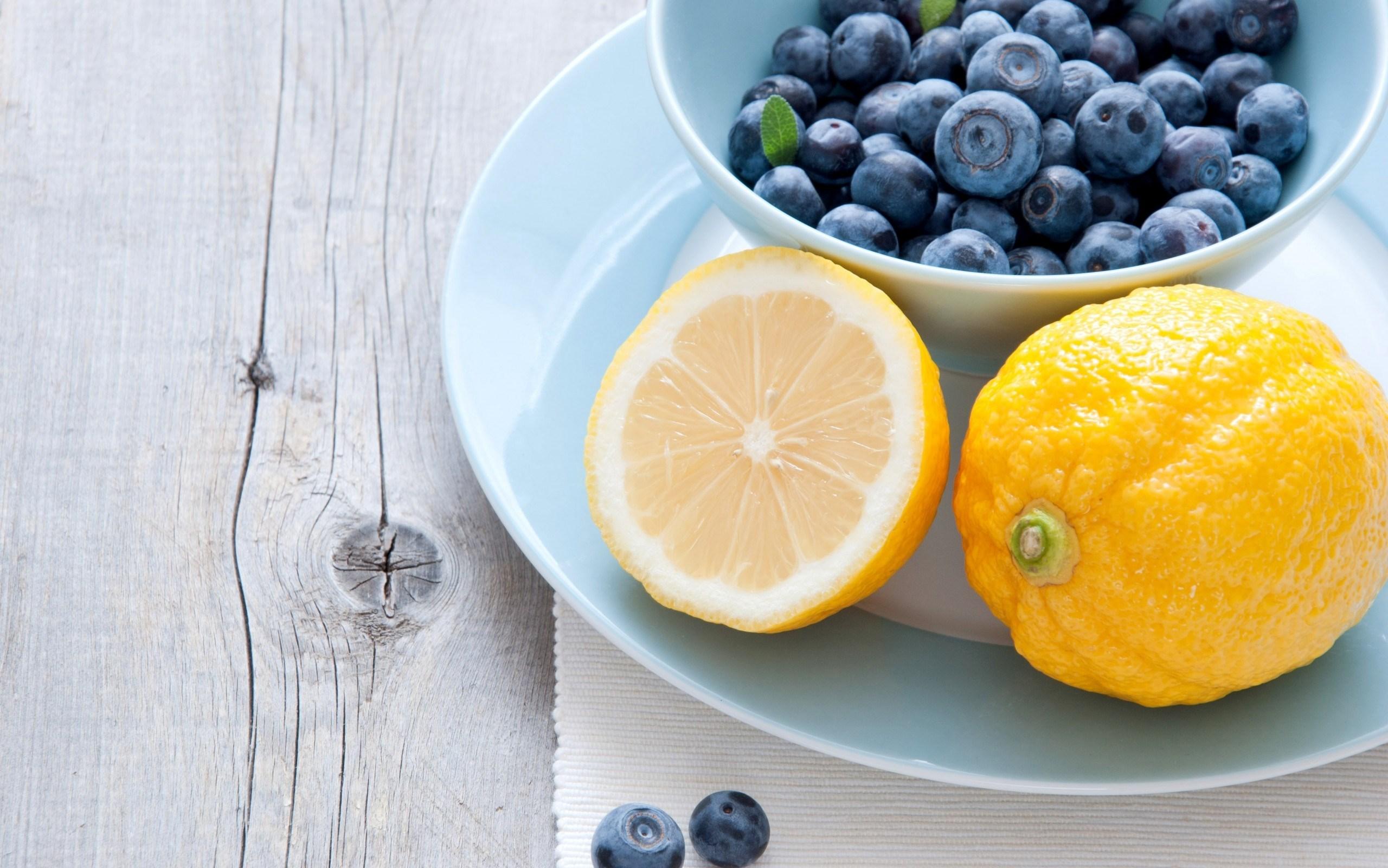 Lemons Citrus Berries Blueberries