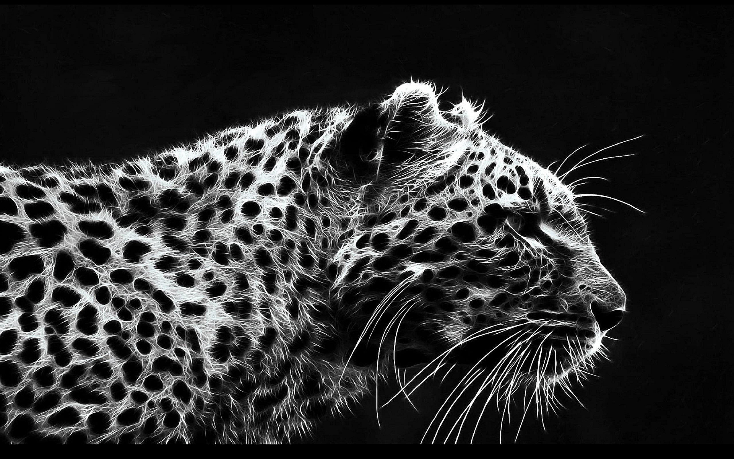 Leopard Art Drawing Wallpaper 2560x1600 13615