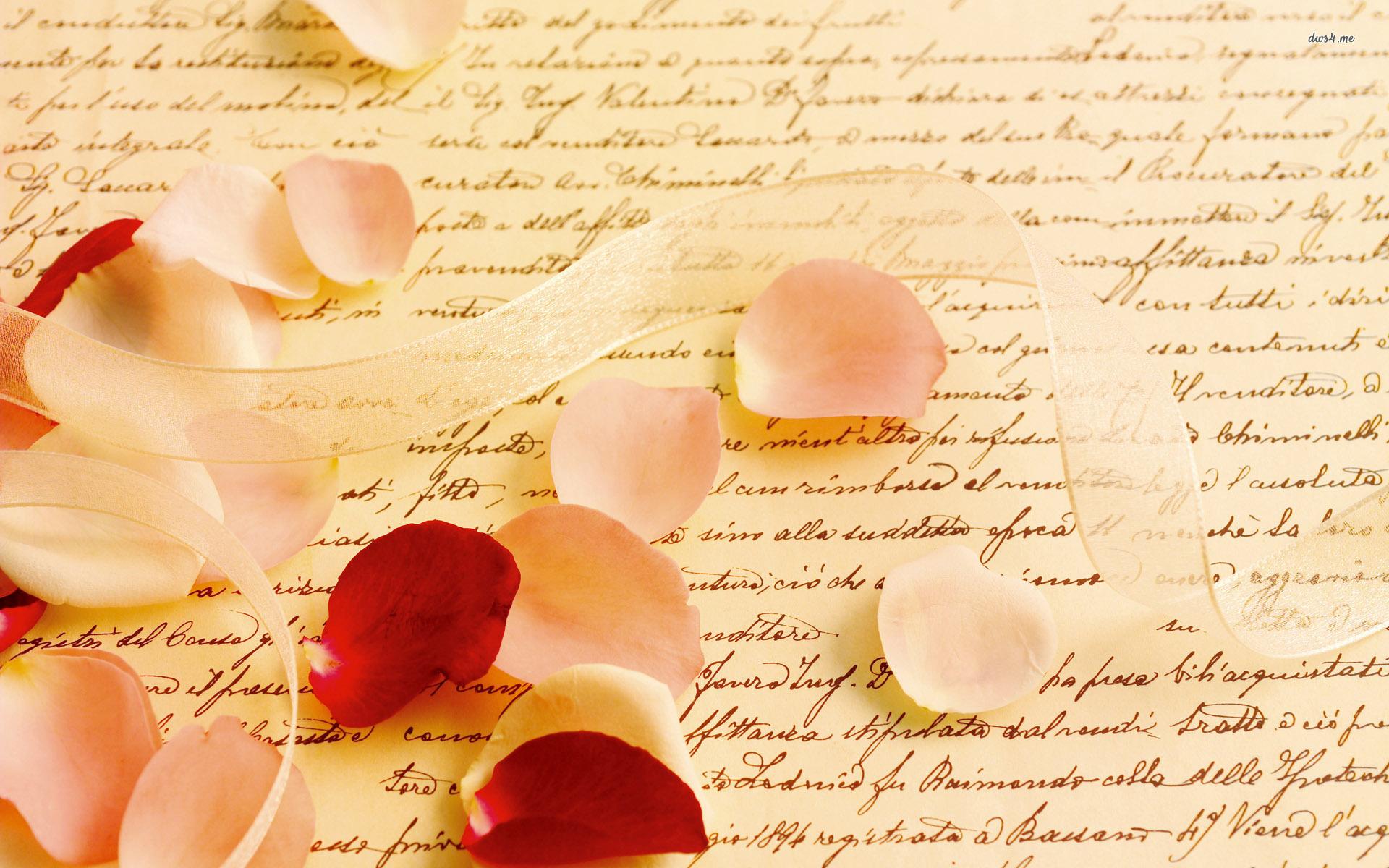 Letter rose petals