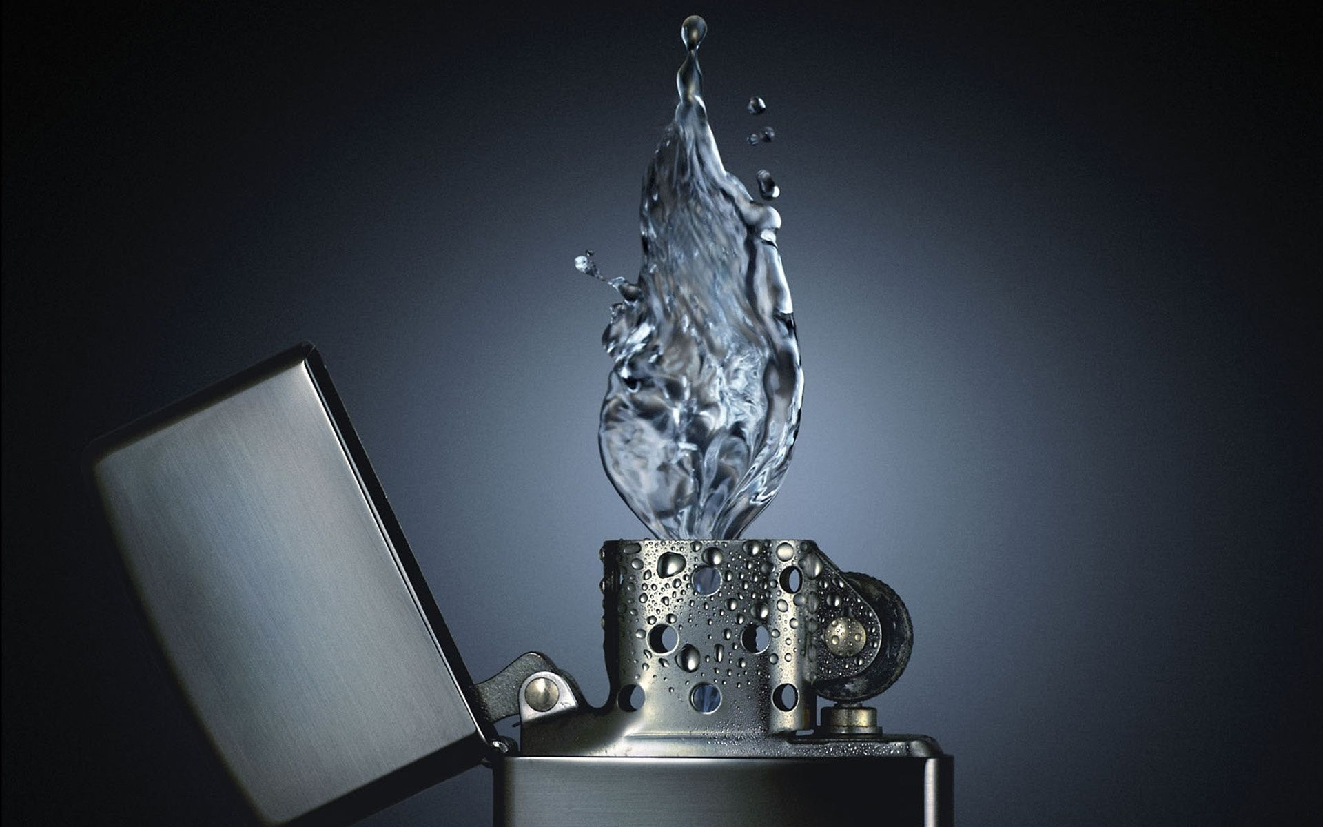 Zippo Lighter Water Flame (click to view)