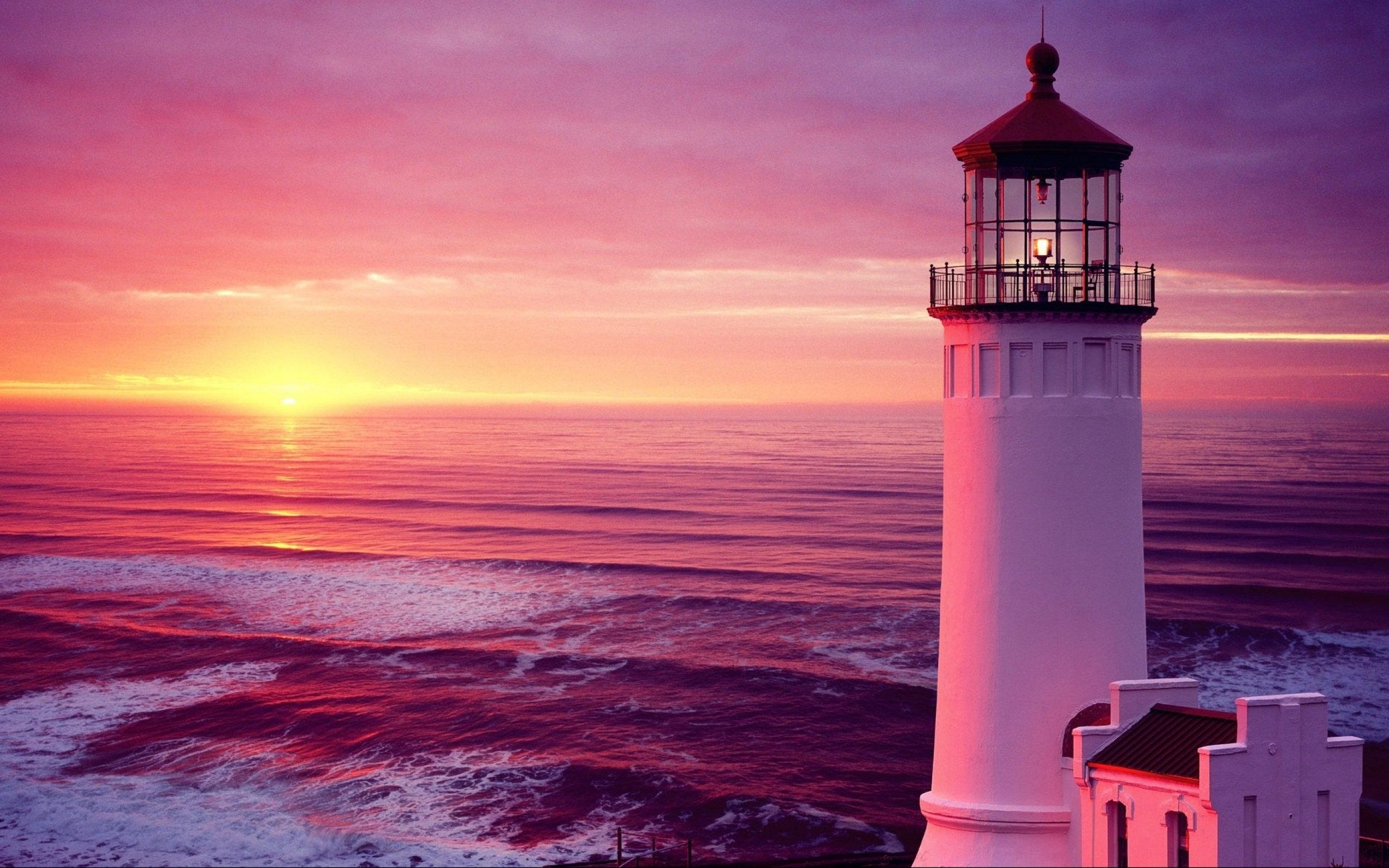 Lighthouse sunset