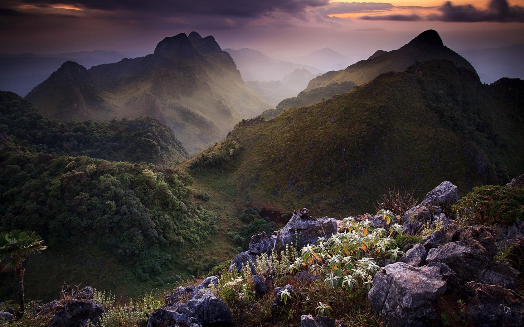 Limestone scenery thailand