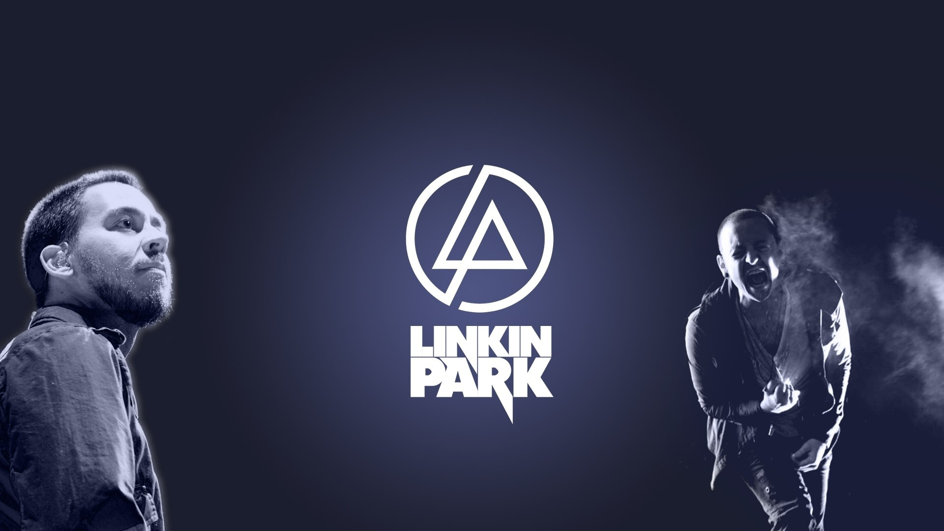 Preview wallpaper linkin park, symbol, soloists, name, font 1920x1080