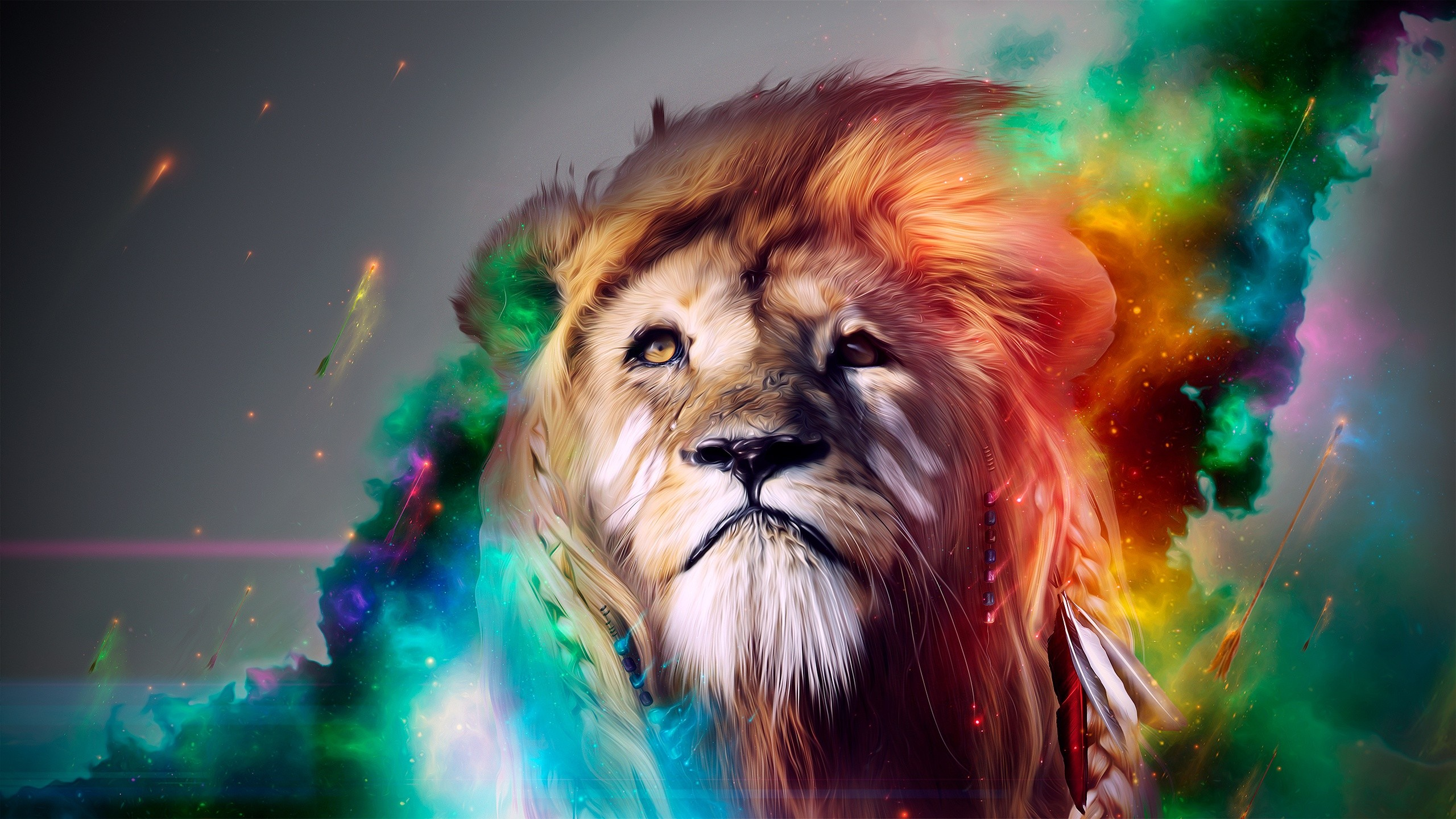 HD Wallpaper | Background ID:320986. 2560x1440 Animal Lion