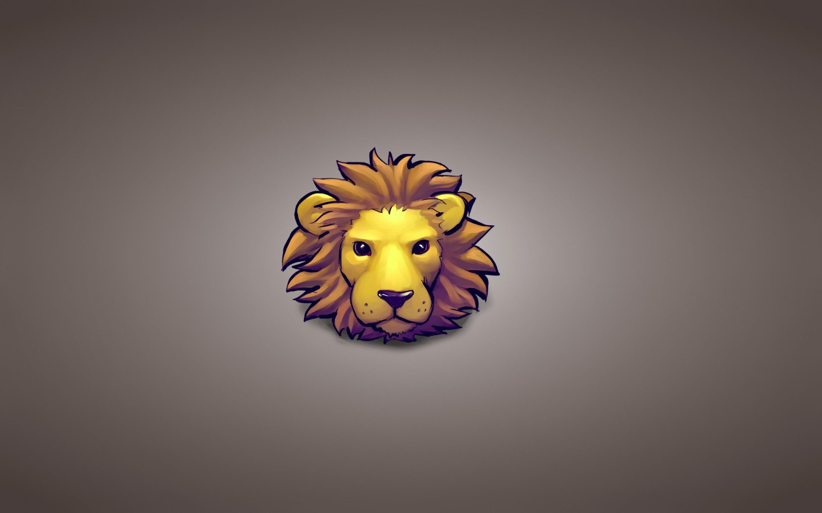 Lion Head Minimalism Cartoon