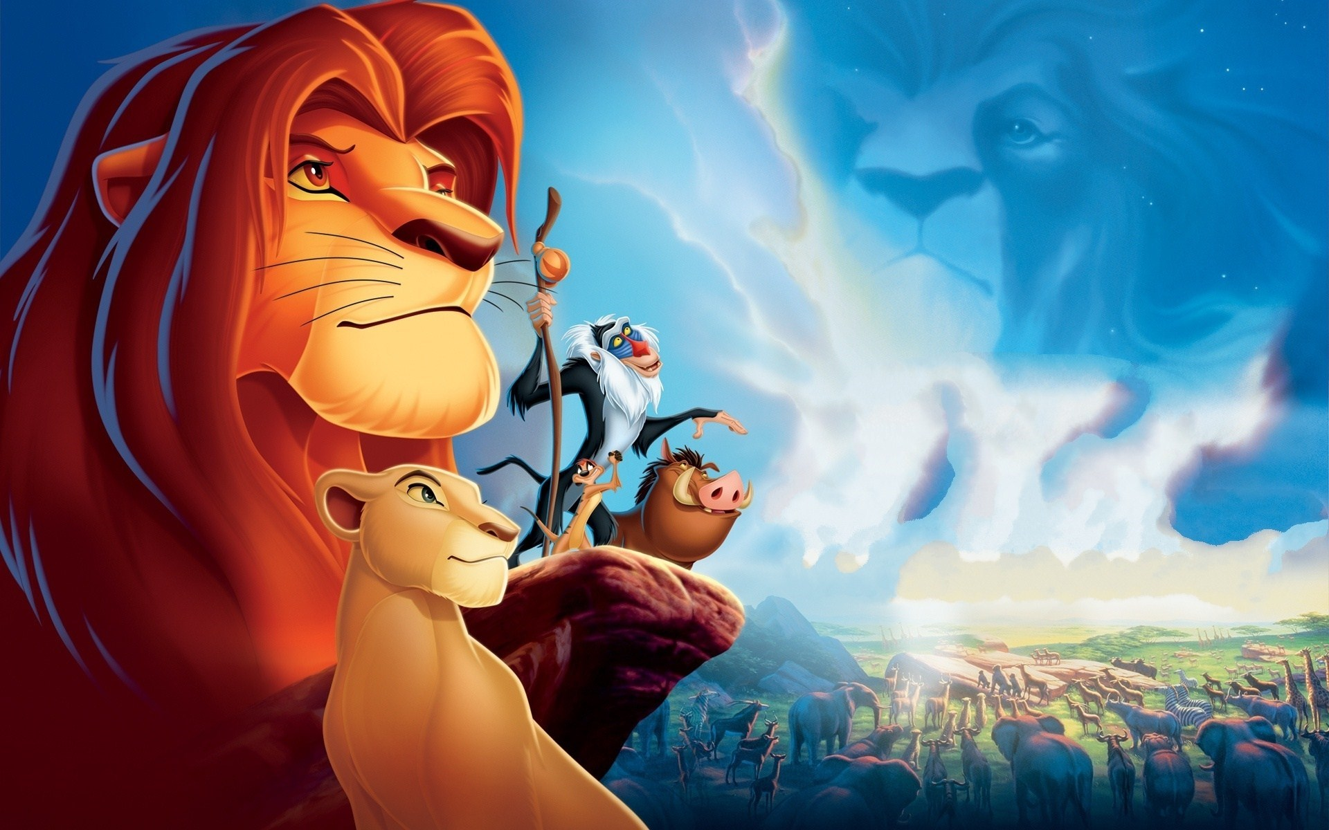 Lion King Cartoon Timon Pumbaa Nala Simba Mandrill Rafiki Mufasa