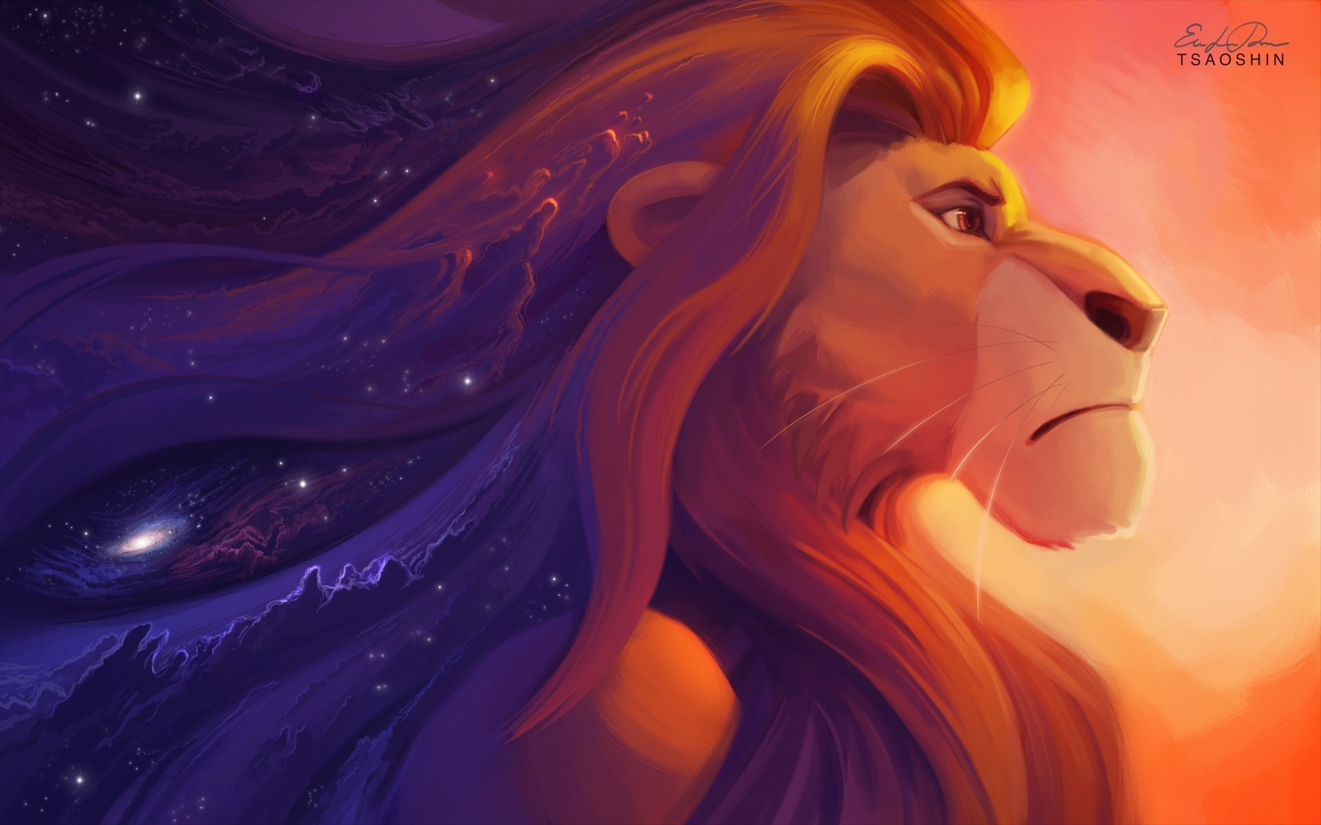 The Lion King Simba Art Cartoon HD Wallpaper