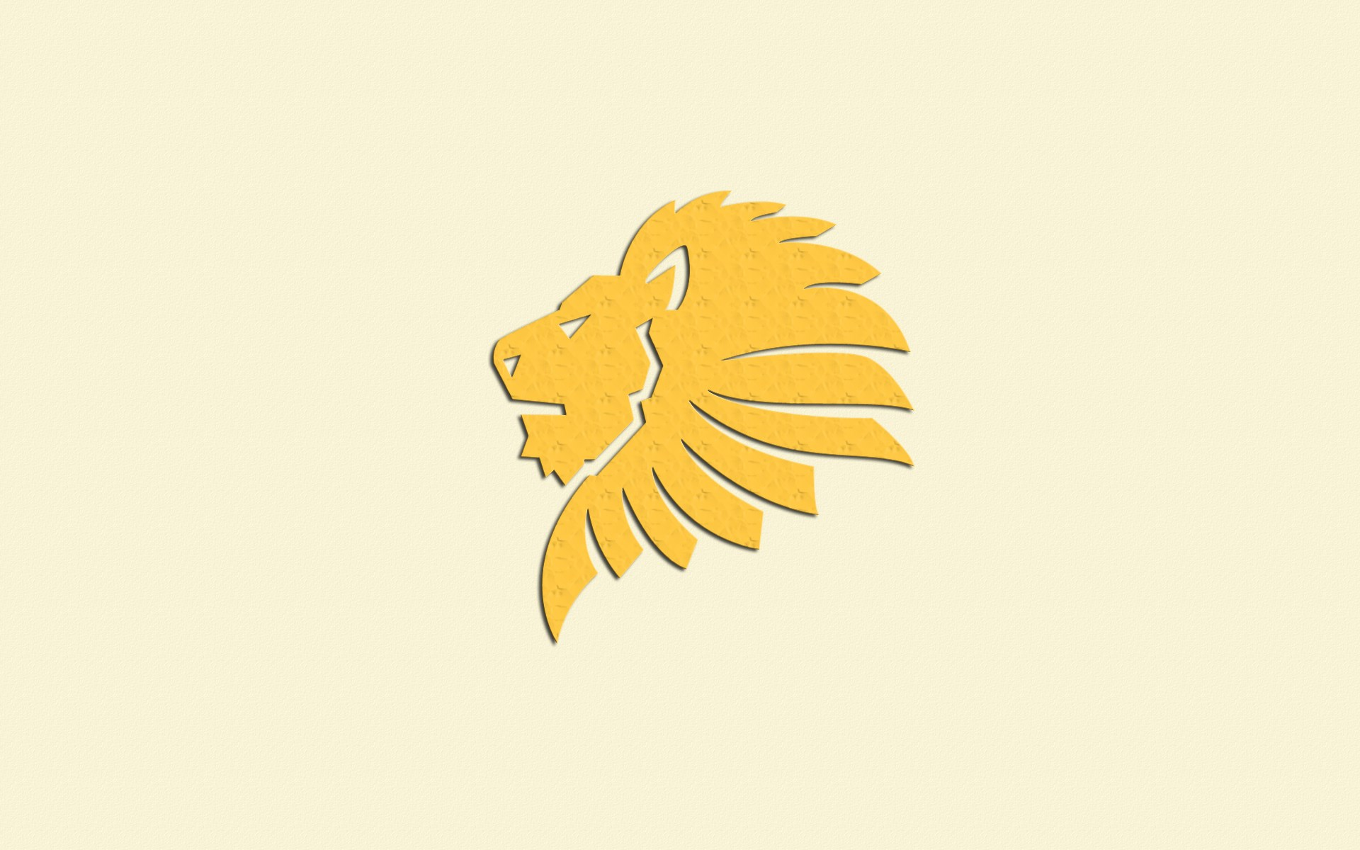 Lion Yellow Art