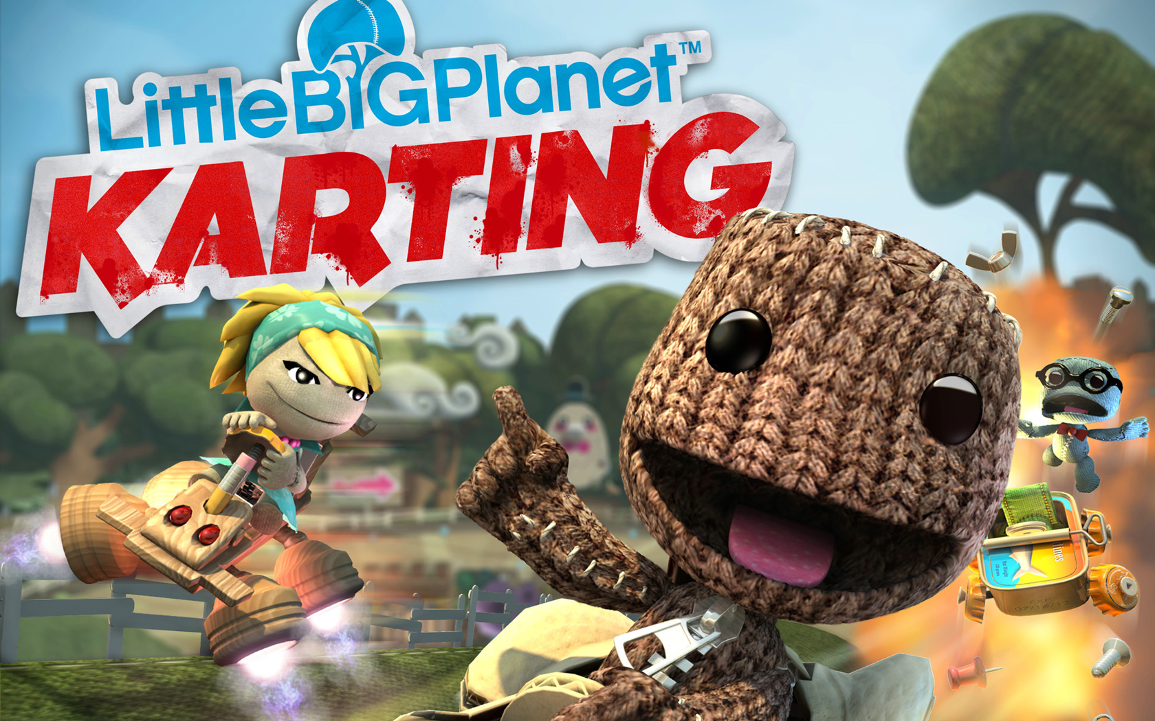 Little Big Planet Karting Wallpaper