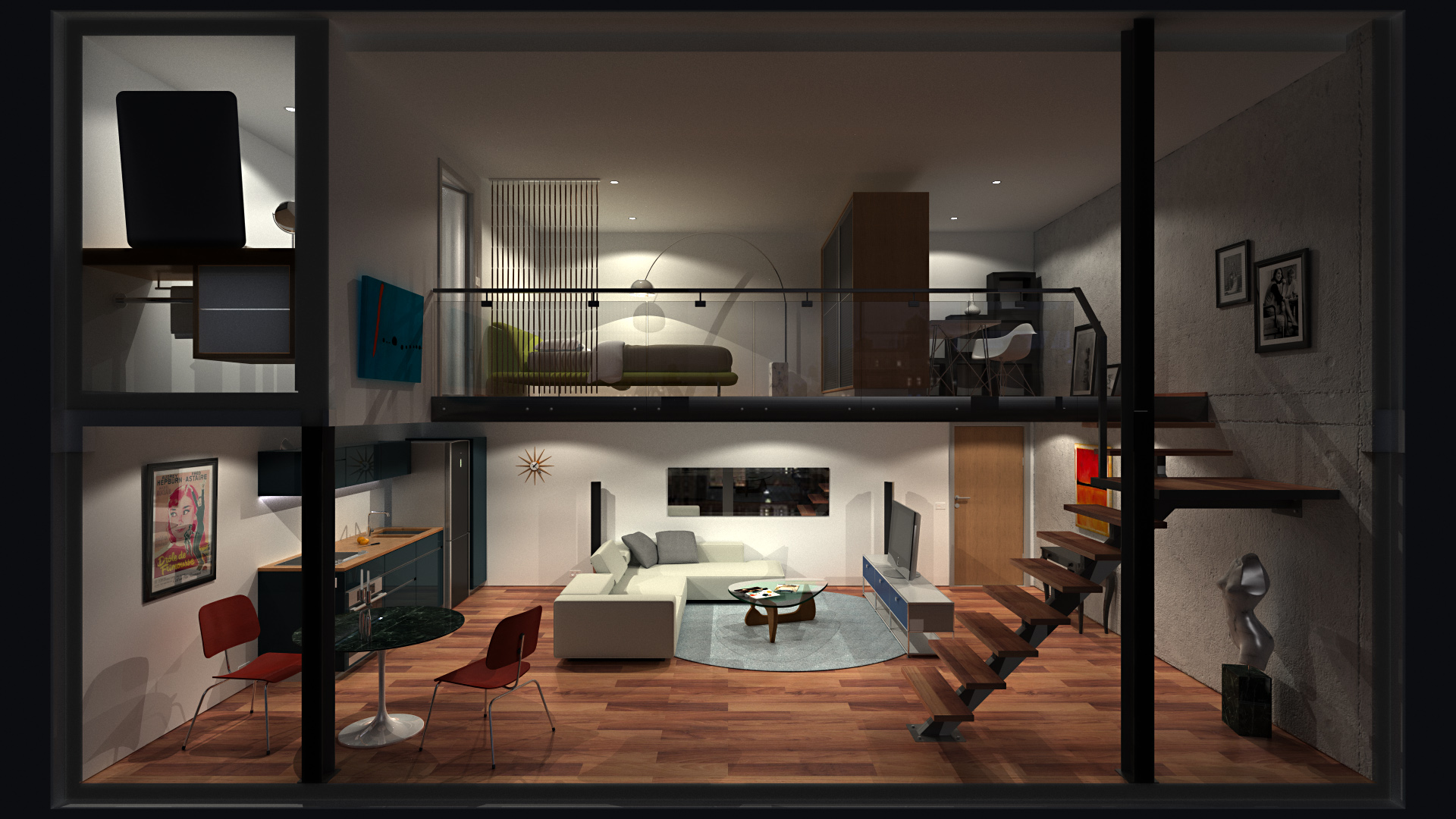 Loft Apartment 0 - HD, Night by richert