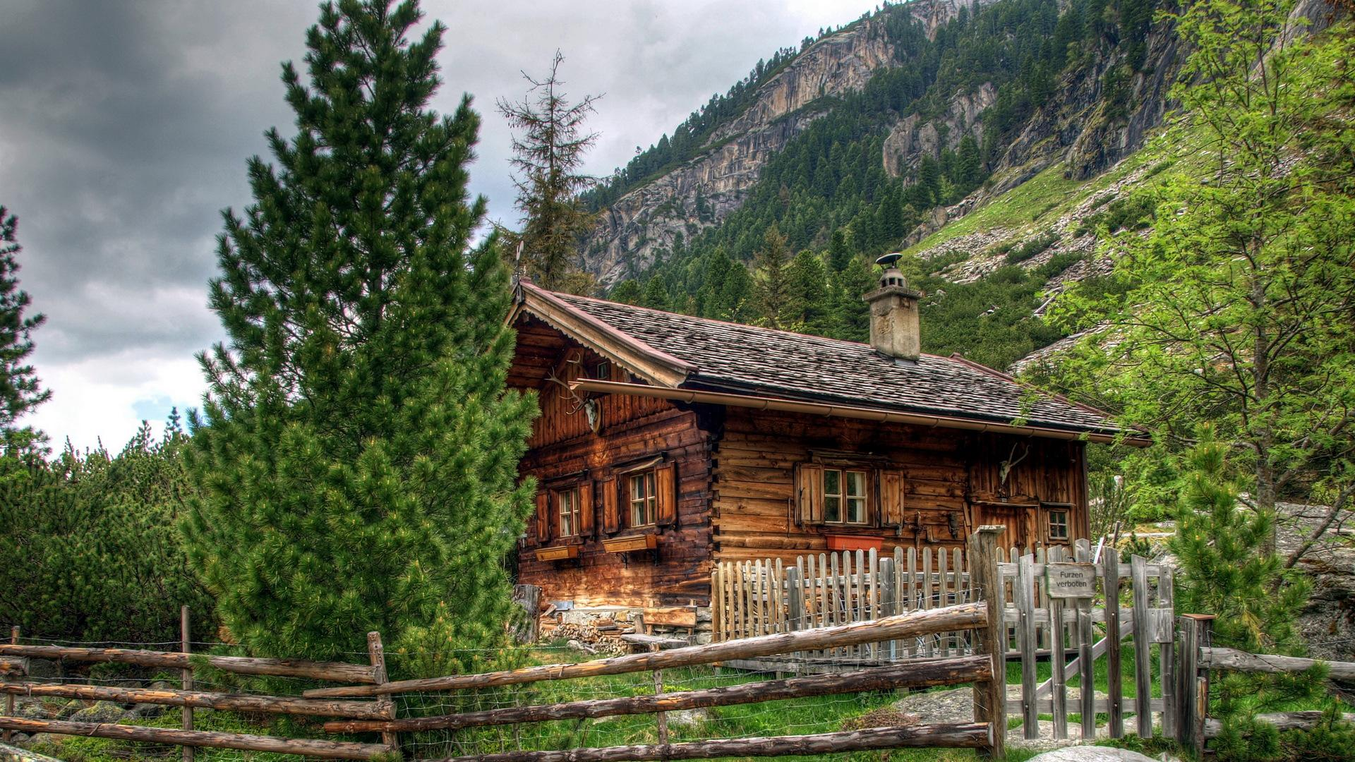 HDR Log Cabin Wallpaper 18777