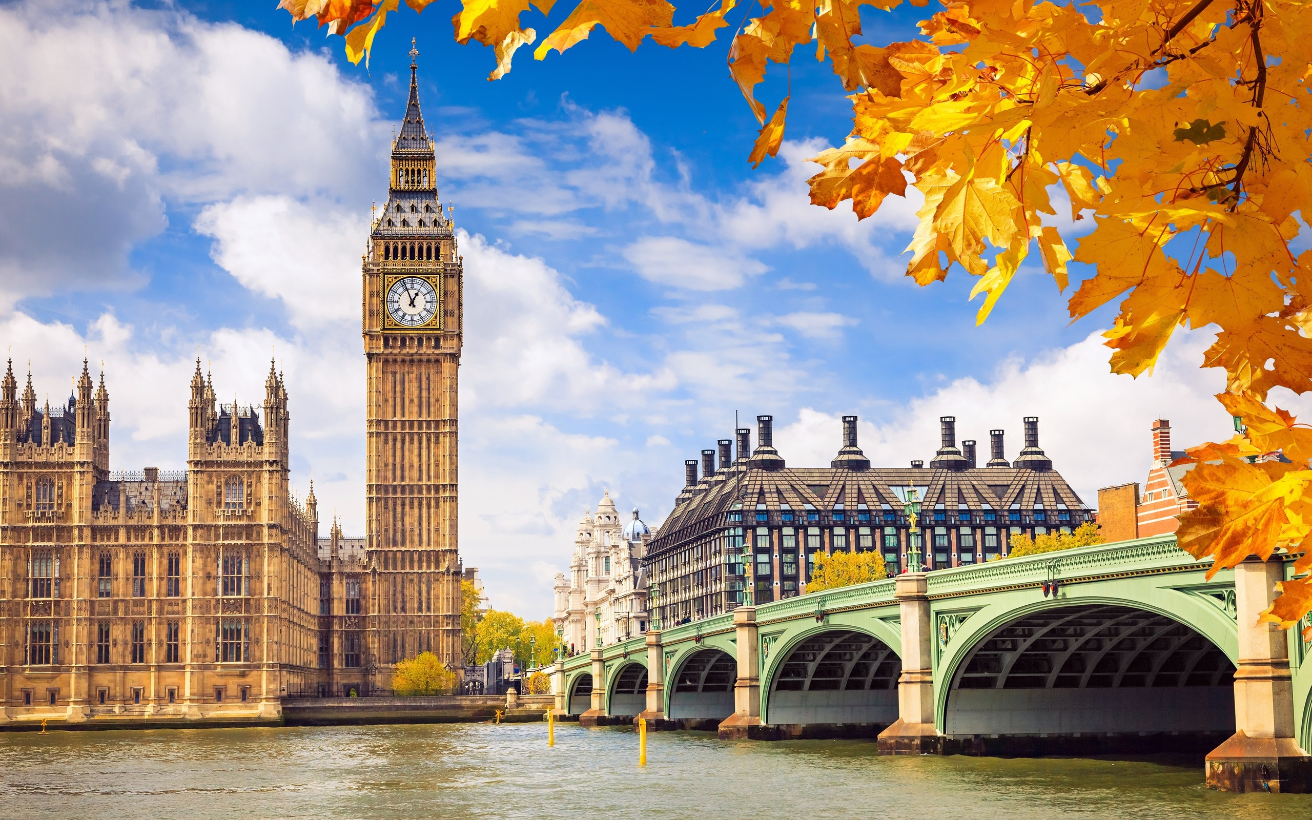 London Big Bang Autumn Season Wallpaper HD
