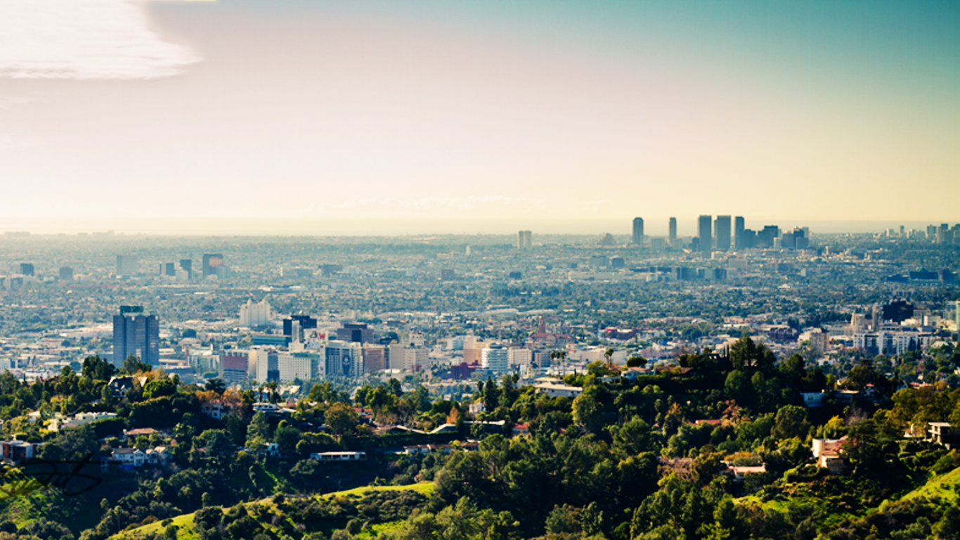 Los Angeles Wallpaper Nature in City 12370