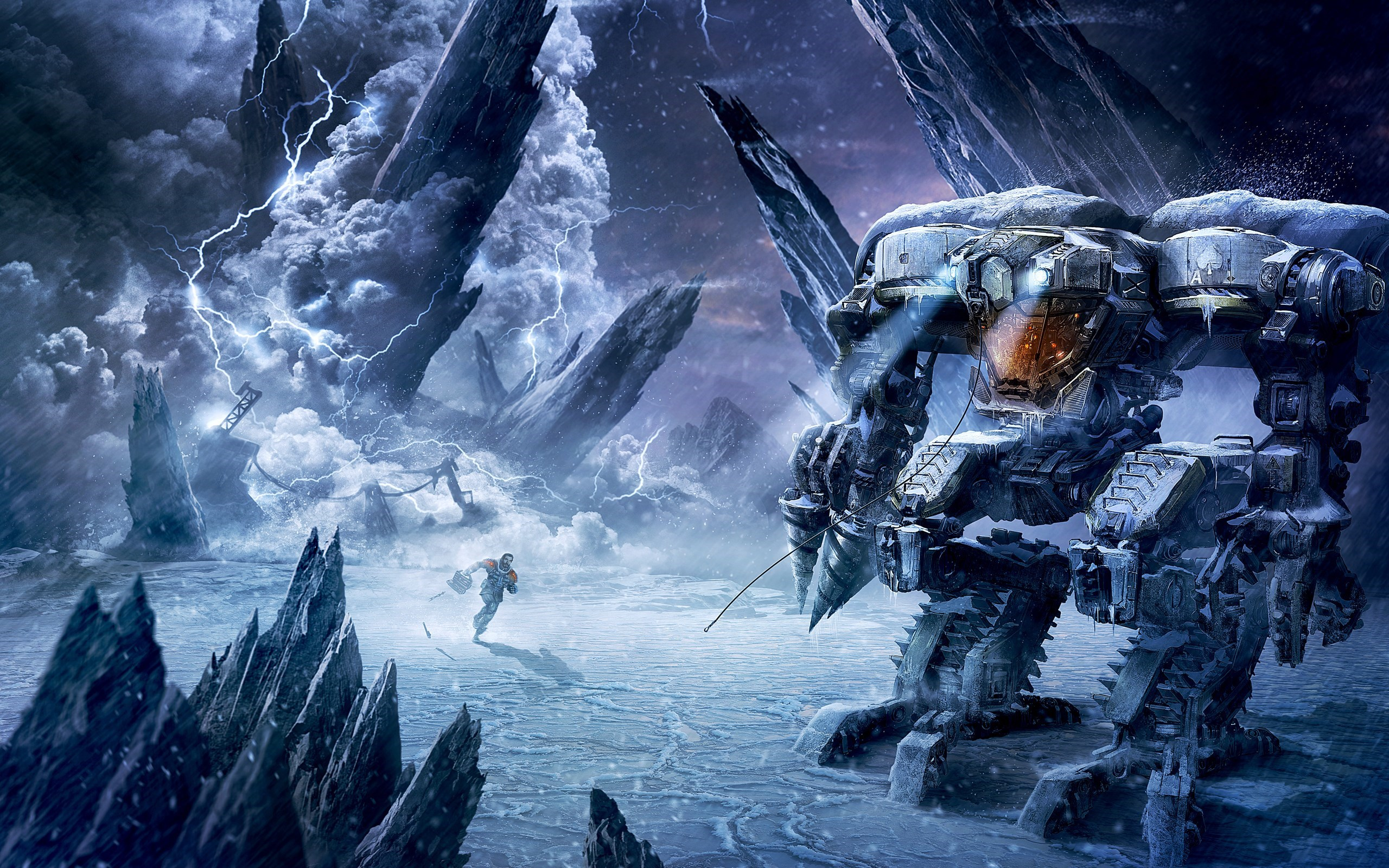Lost Planet Robot Game Art Poster