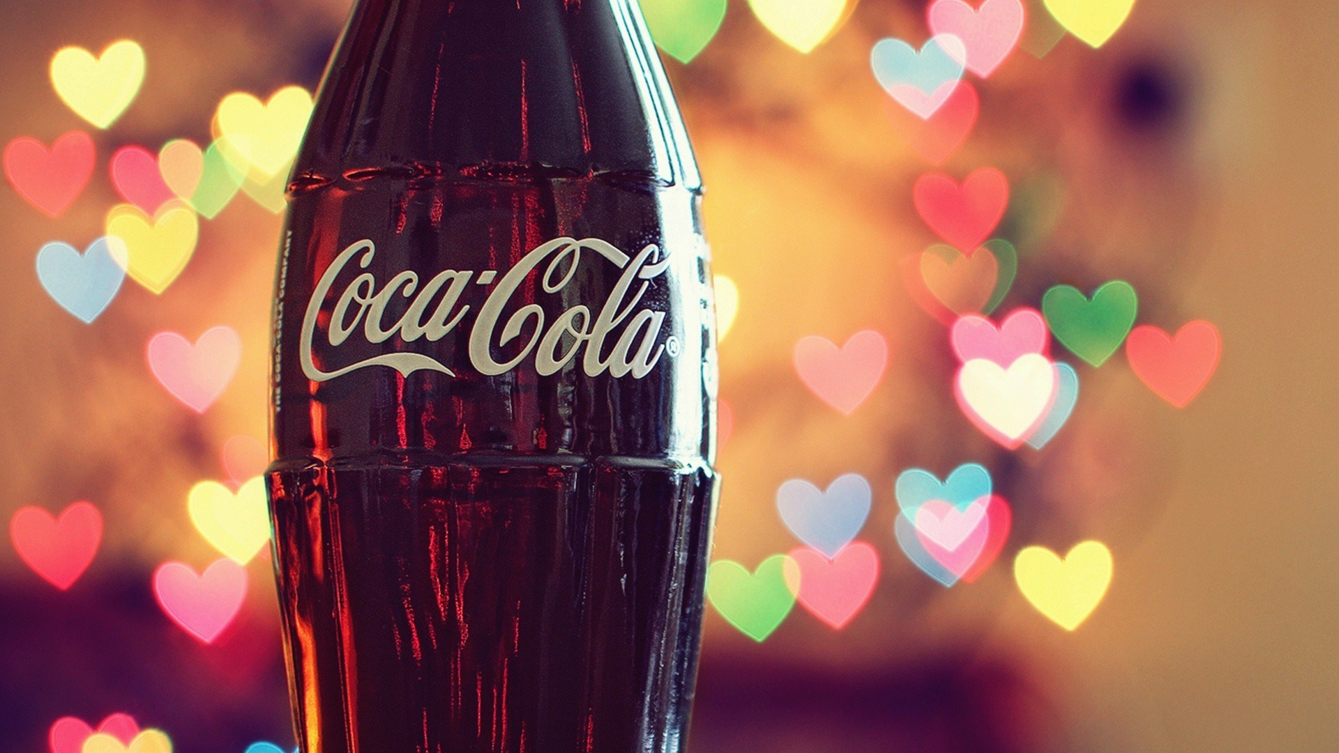 Love Coca-Cola Hearts Lights Photo