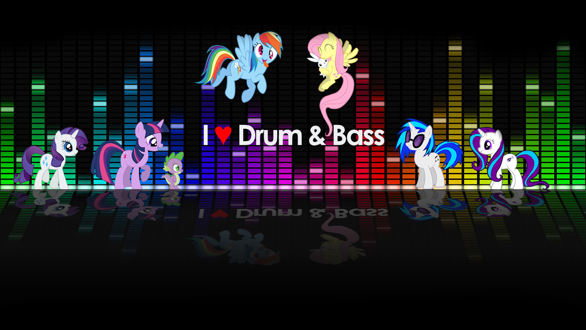 I Love Drum & Bass wallpaper 1920x1080