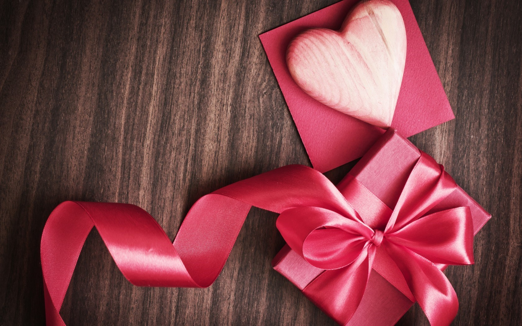 Valentines Day Heart Box Tape Ribbon Pink Gift Love