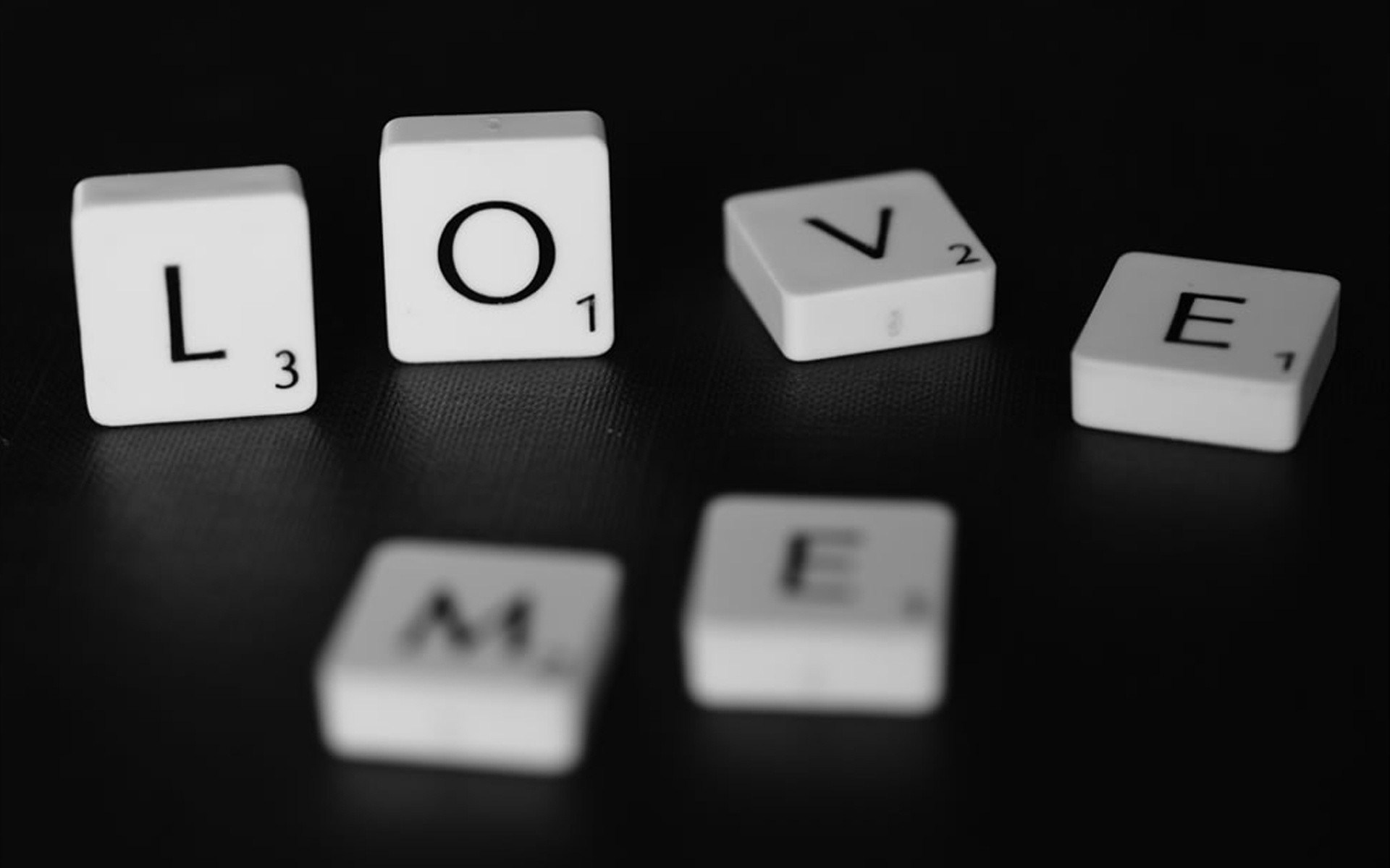 Love Me Scrabble Word Game Photo