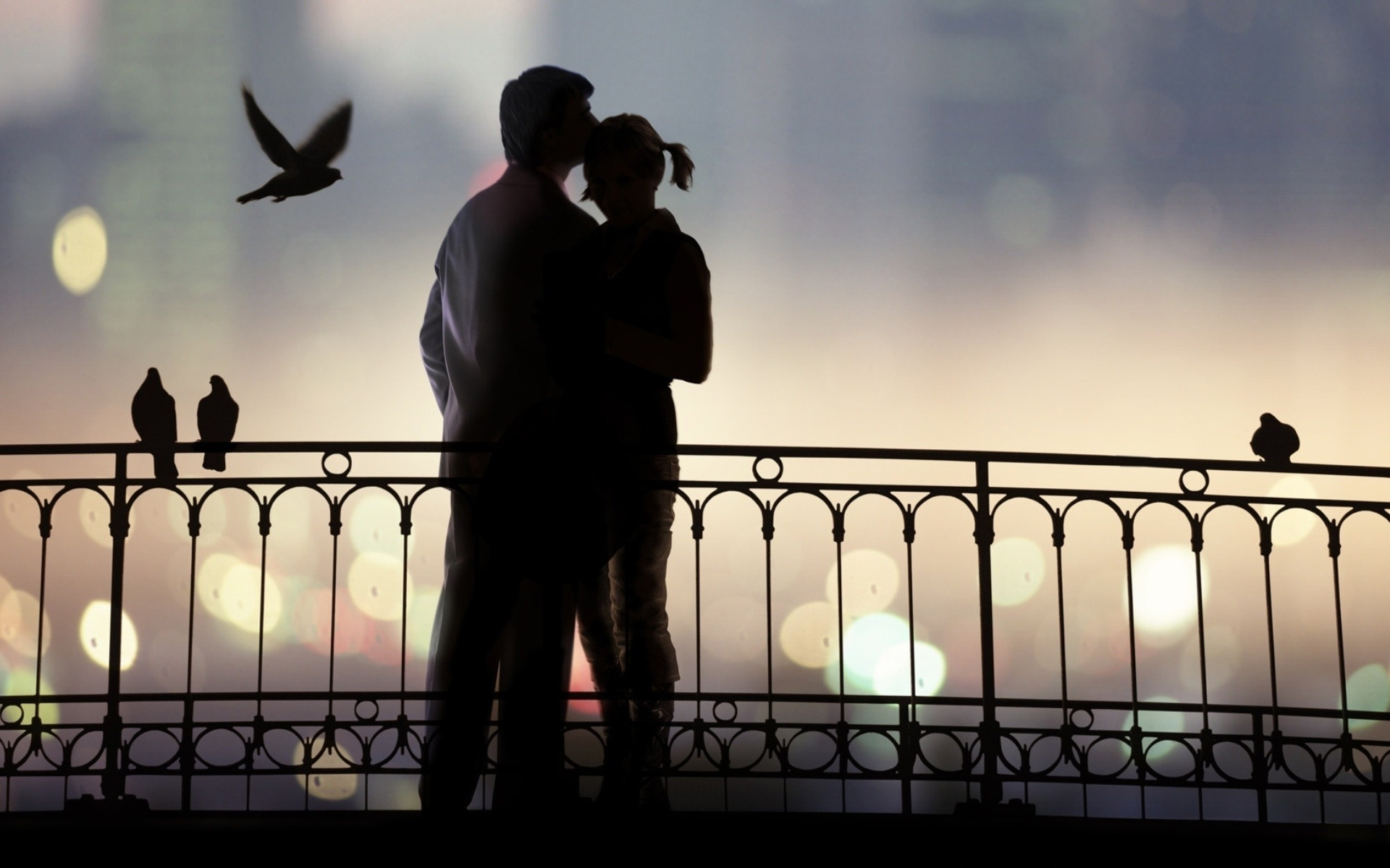 Love Pair And Birds | 1920 x 1200 | Download | Close