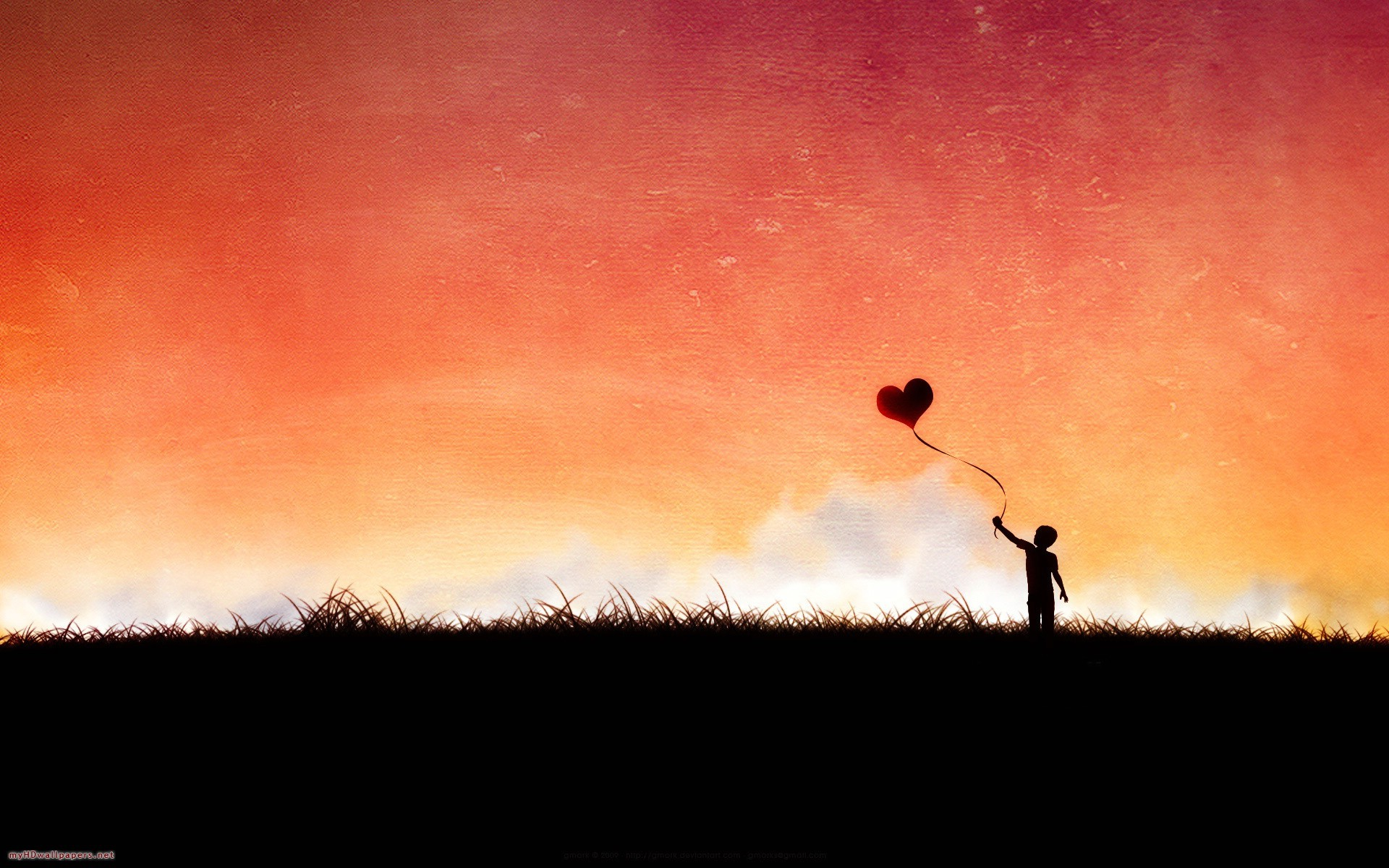 Love Silhouette Wallpaper 1920x1200 28113