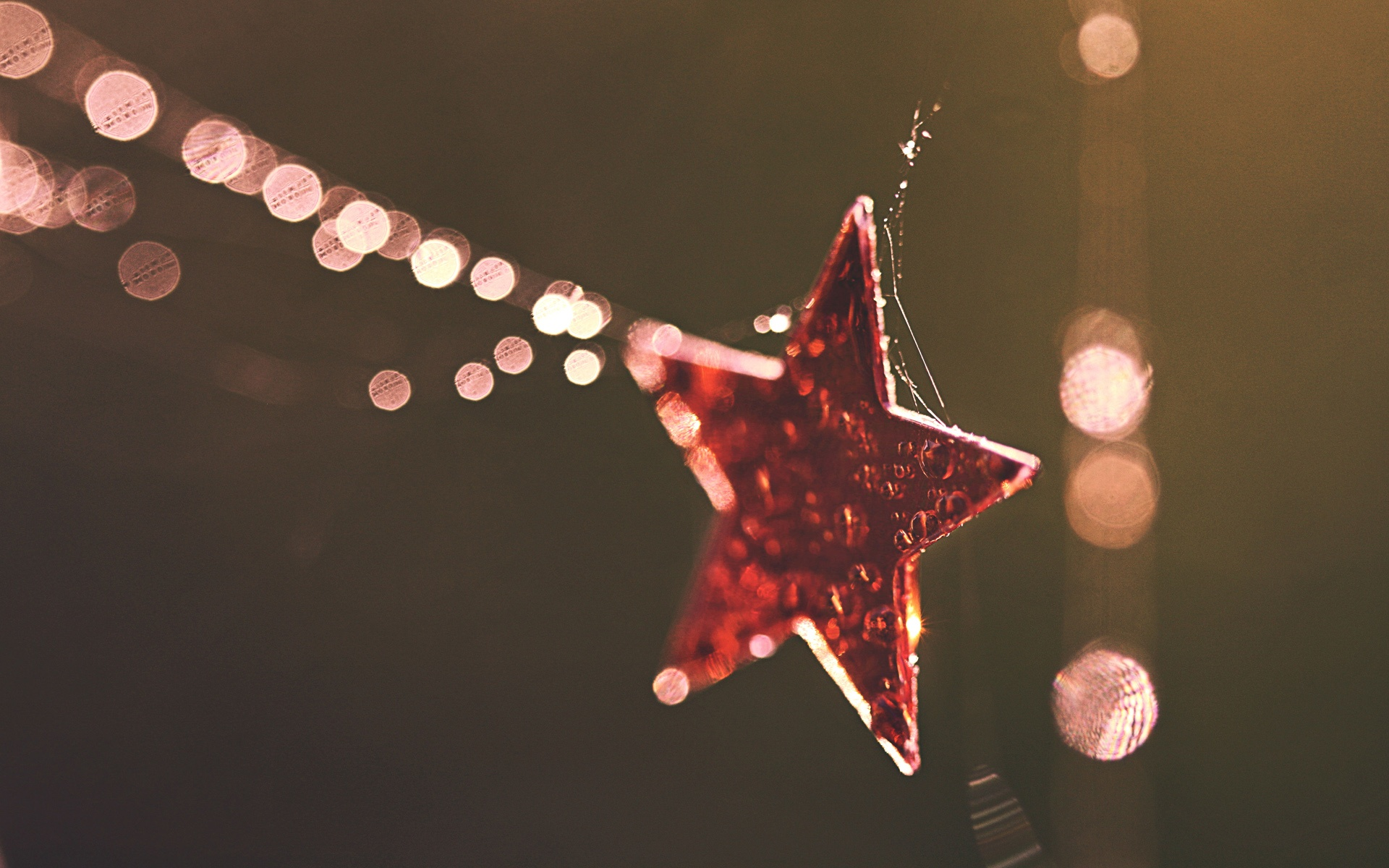 Lovely Christmas Bokeh Wallpaper