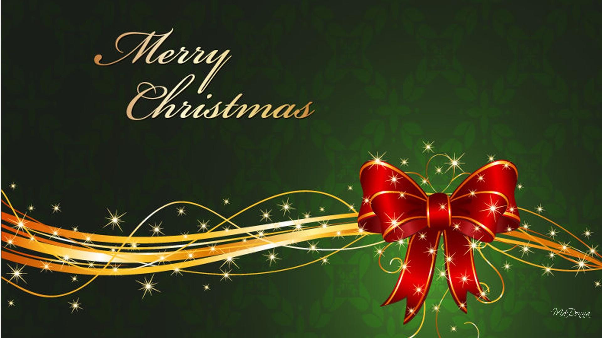 Lovely Christmas Bow Wallpaper