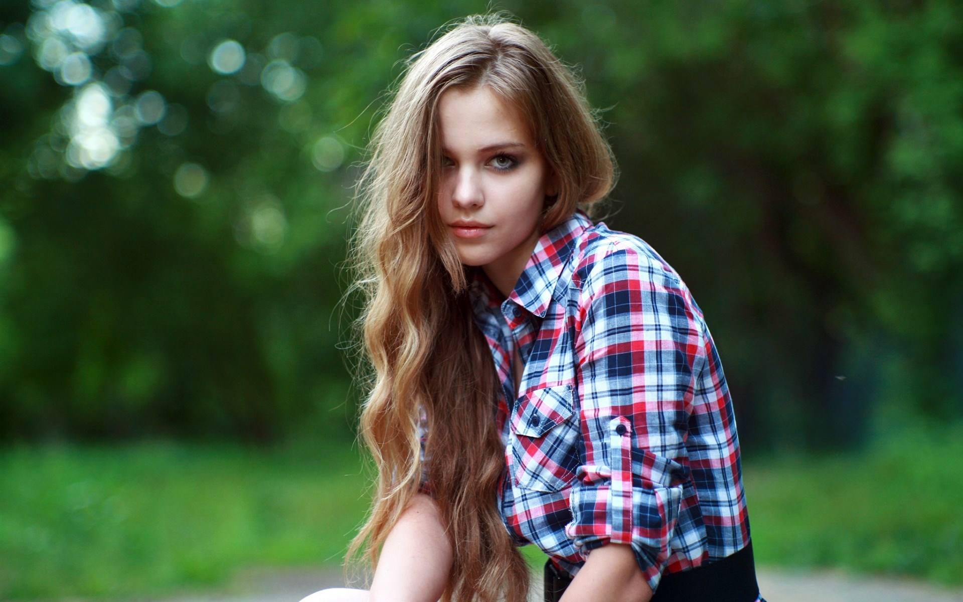 Lovely Girl Blonde Look Photo