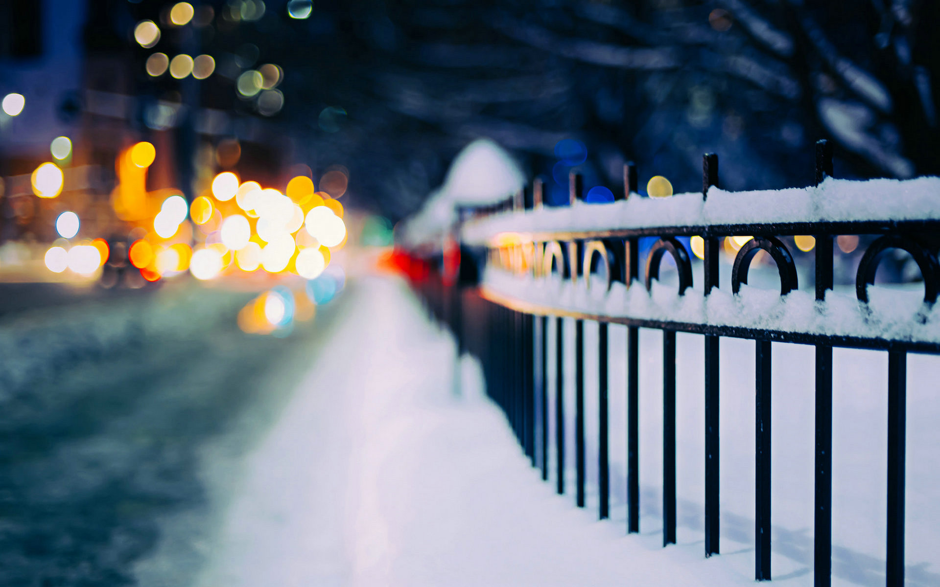 Lovely Snow Fence Wallpaper