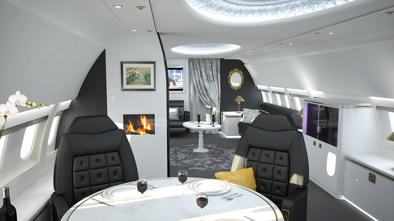 Luxury Airplanes Business Jet