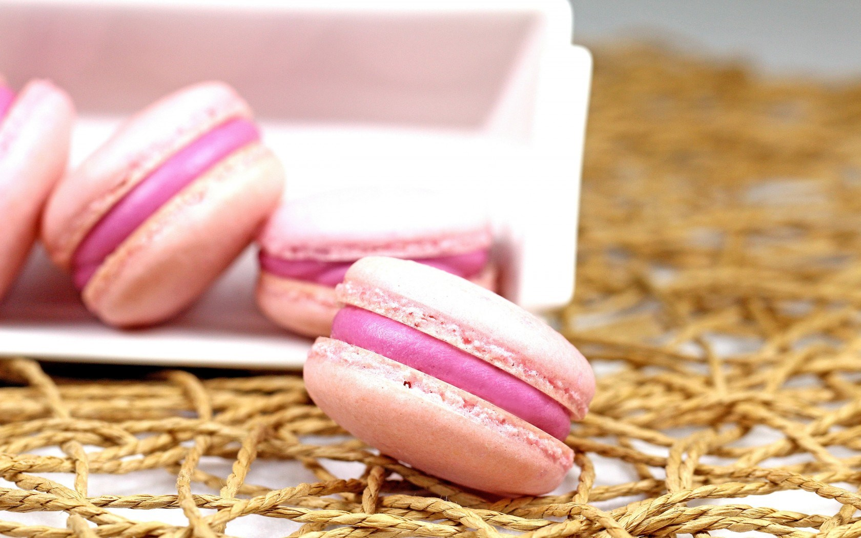 Macaron Pink Food Dessert