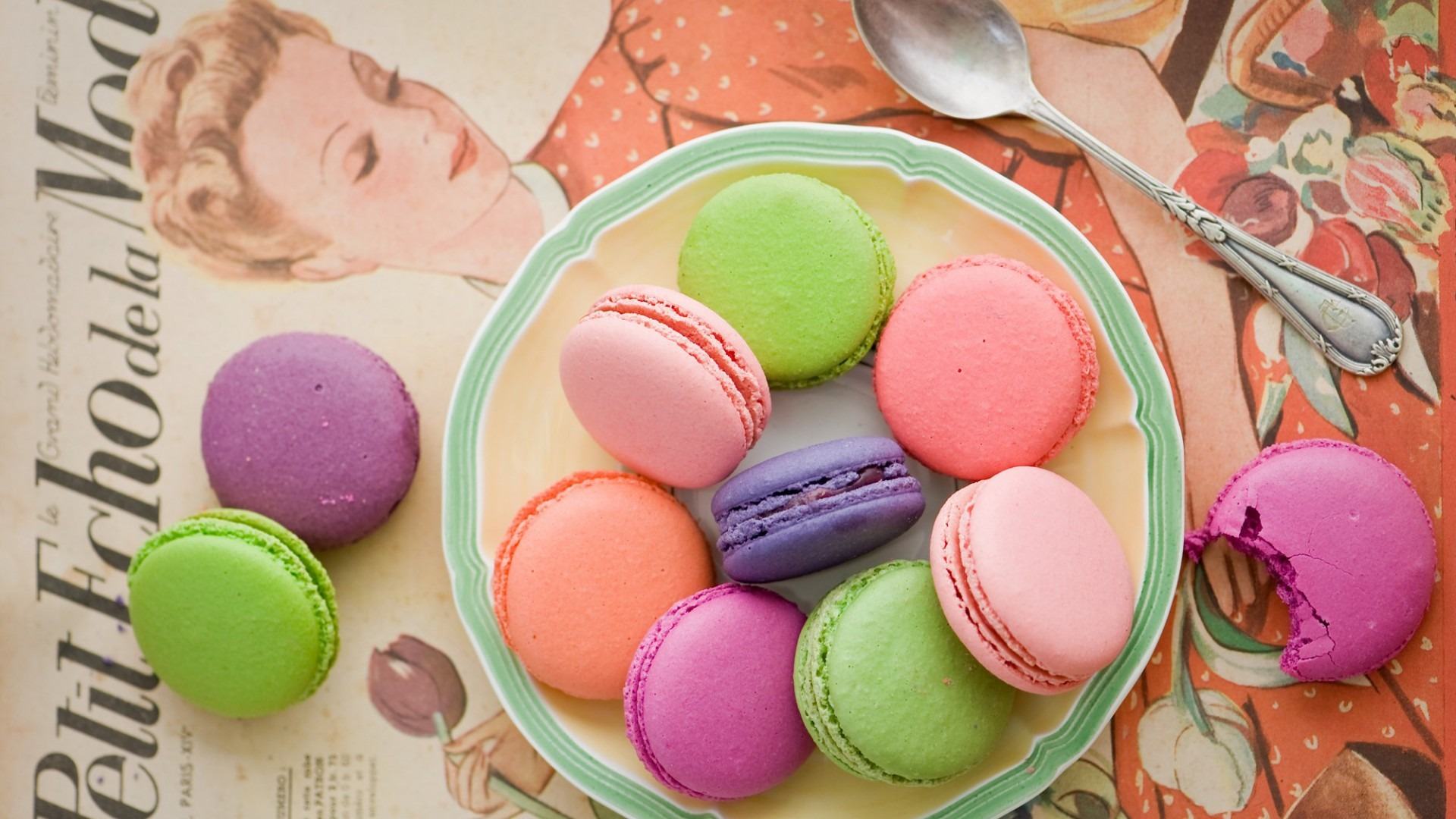 Colorful Cake Macaron Wallpaper Wide Wallpaper