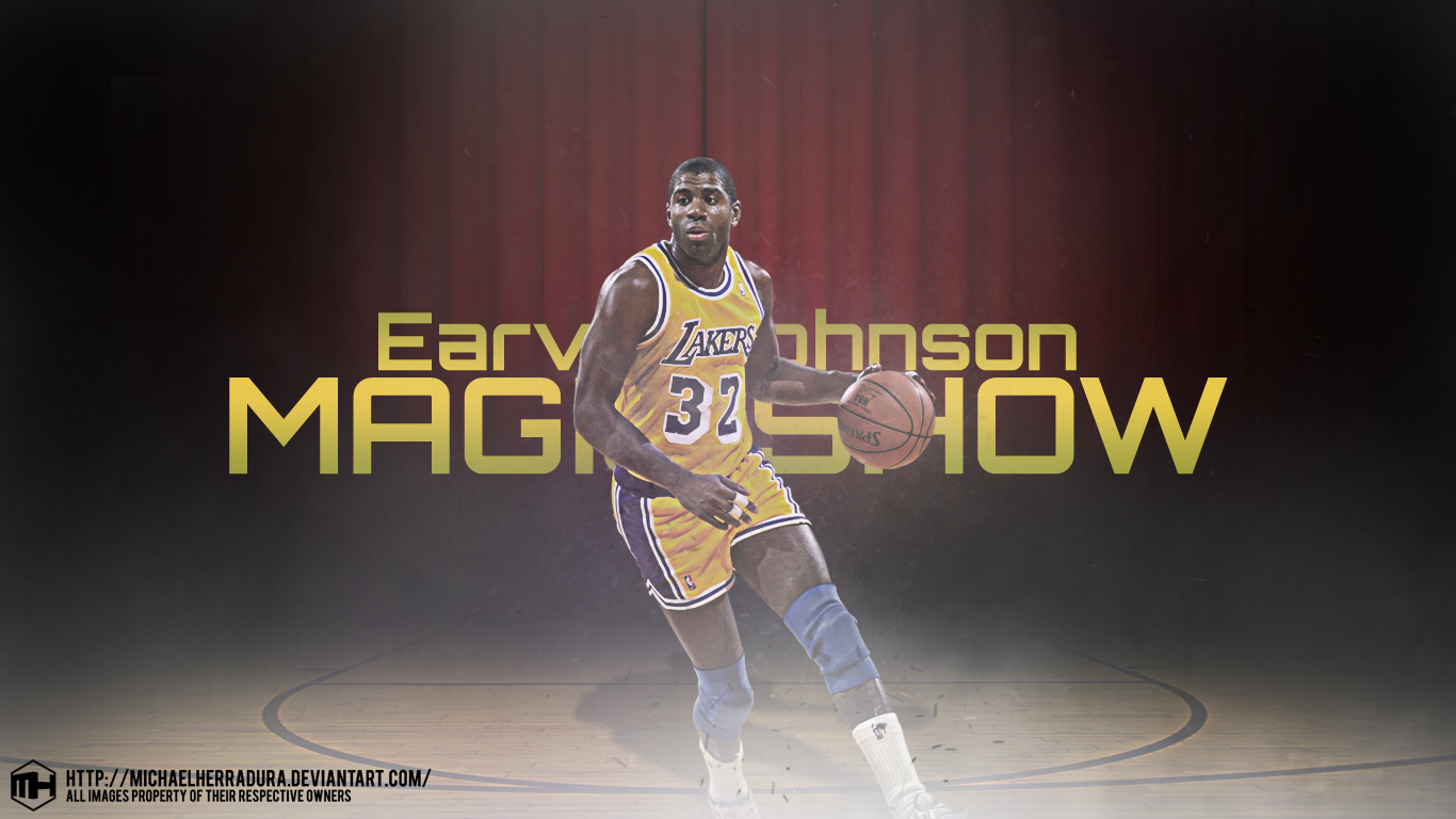Earvin Magic Johnson wallpaper by michaelherradura