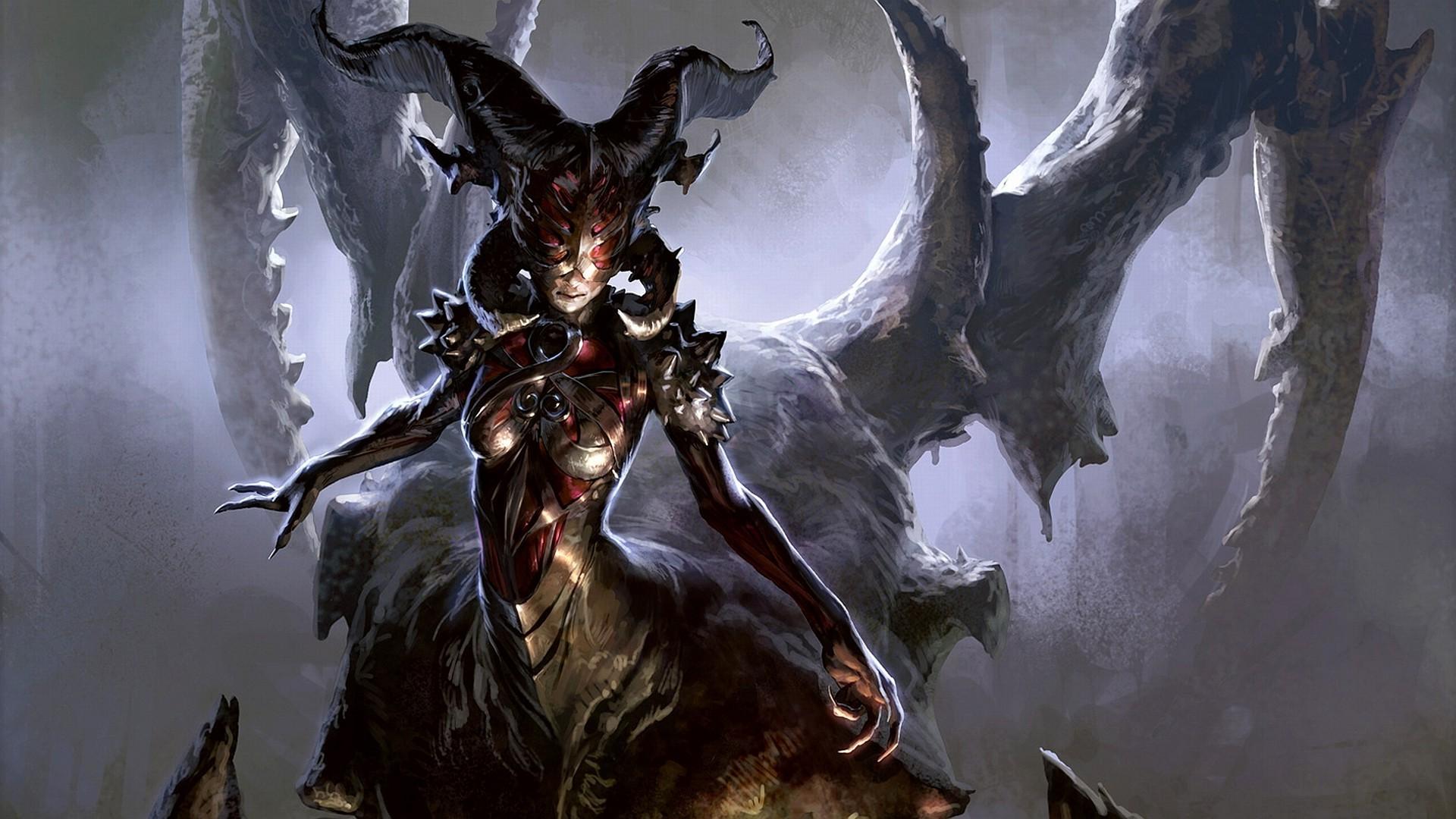 Demon Magic The Gathering Wallpaper 1920x1080px
