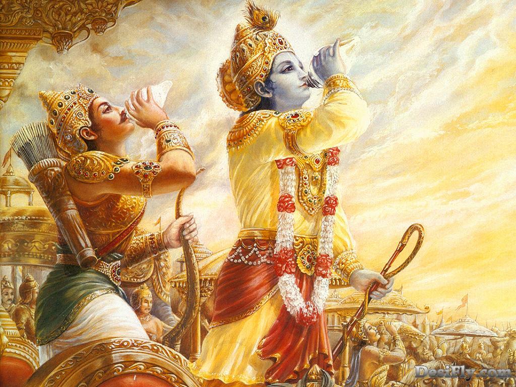Krishna's fight with Arjuna