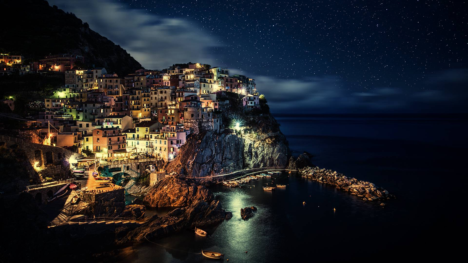 Manarola at Night ...